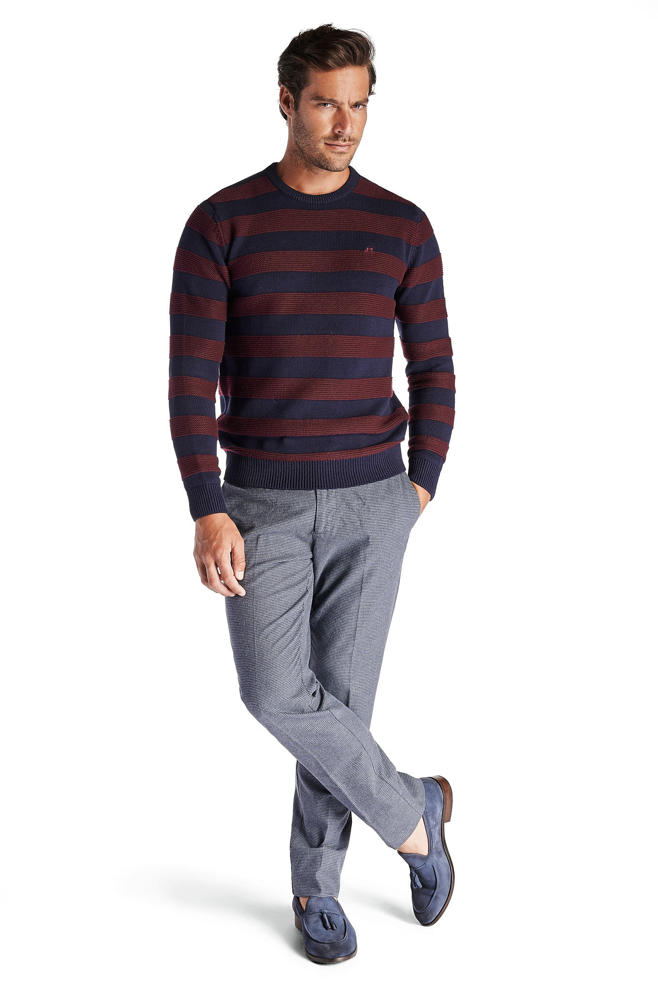 Sweater Stripes Casual Man