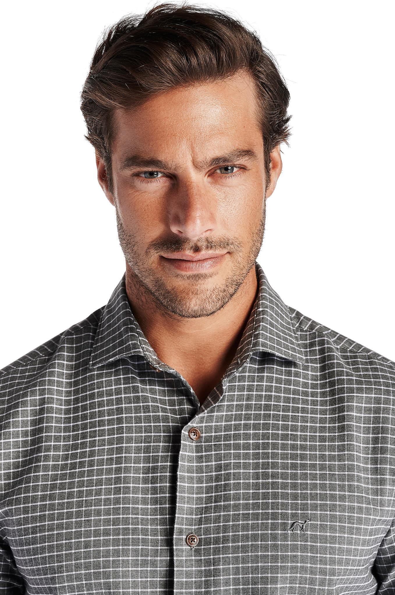 Shirt Grey Casual Man