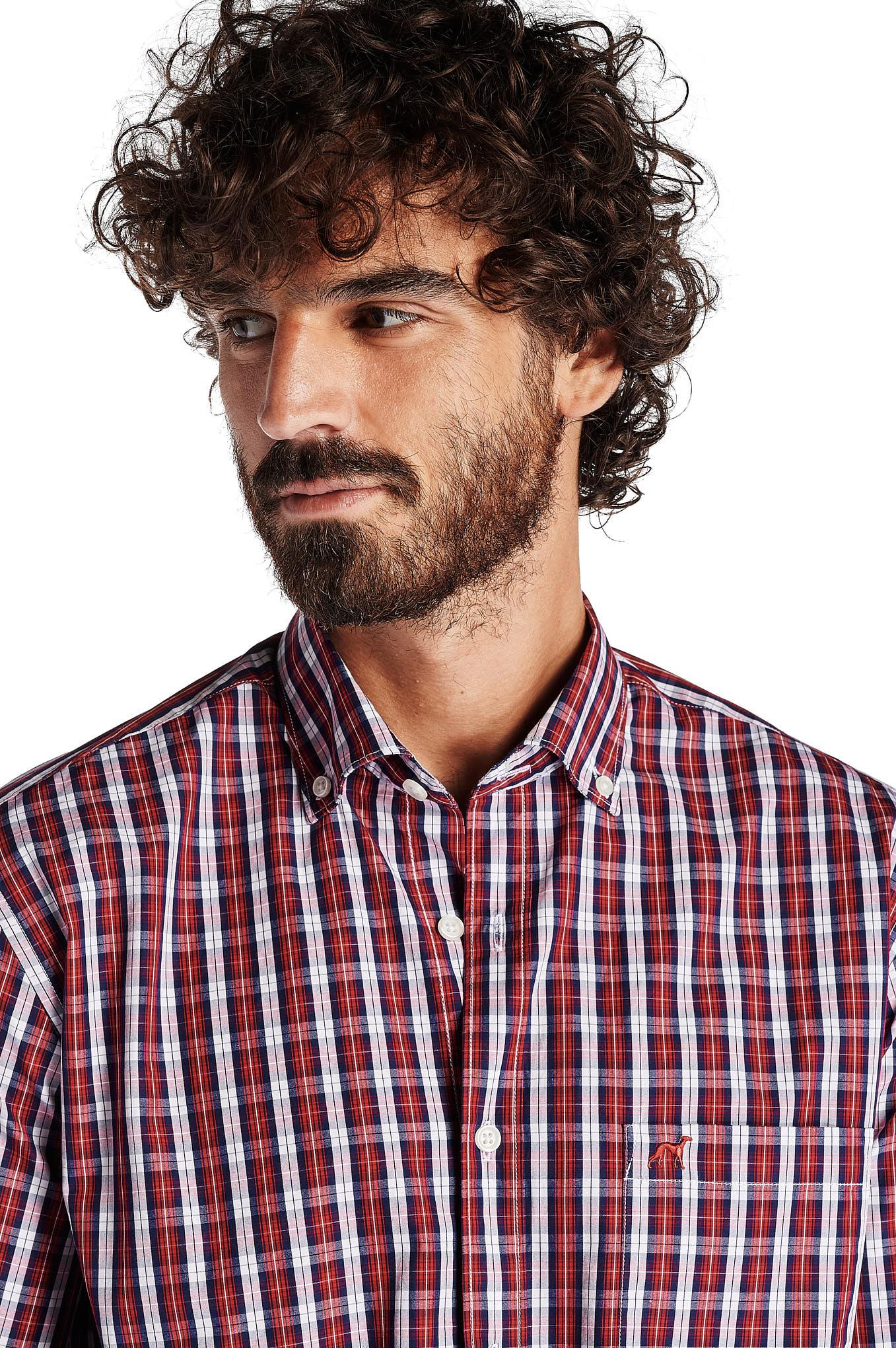 Shirt Red Sport Man