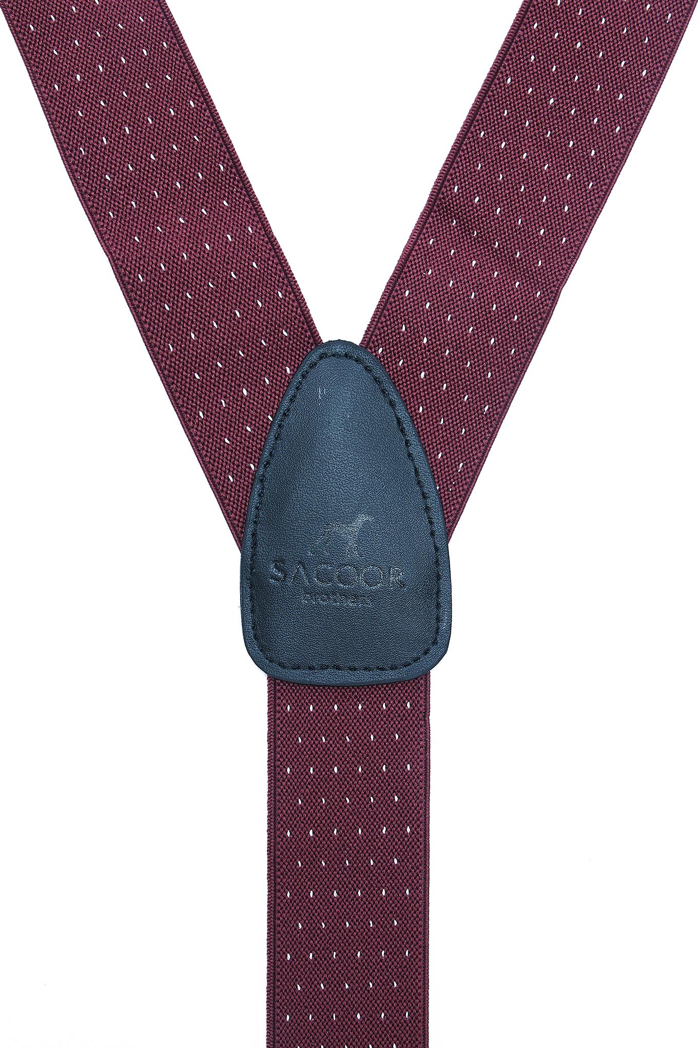 Suspenders Bordeaux Casual Man