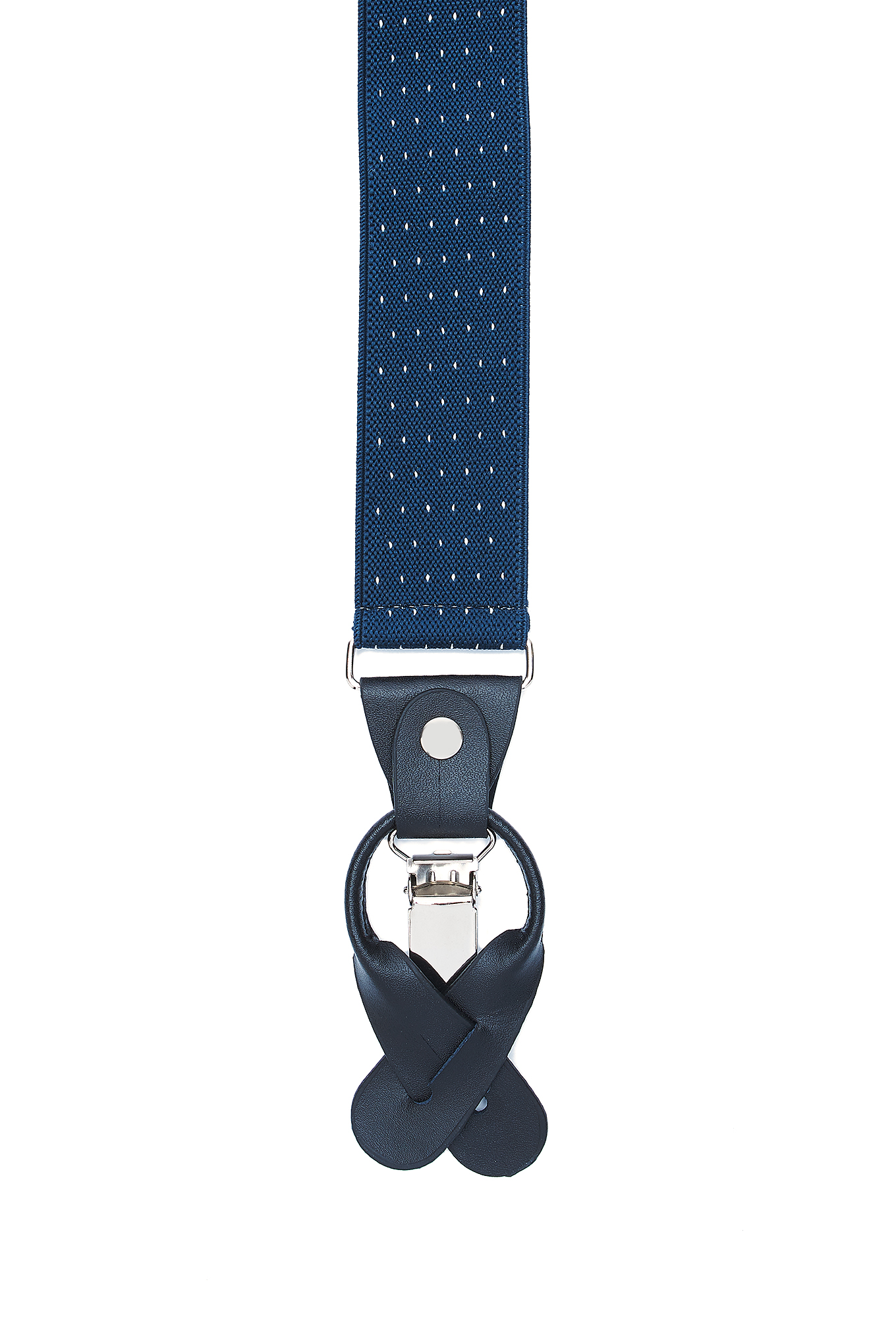 Suspenders Dark Blue Casual Man