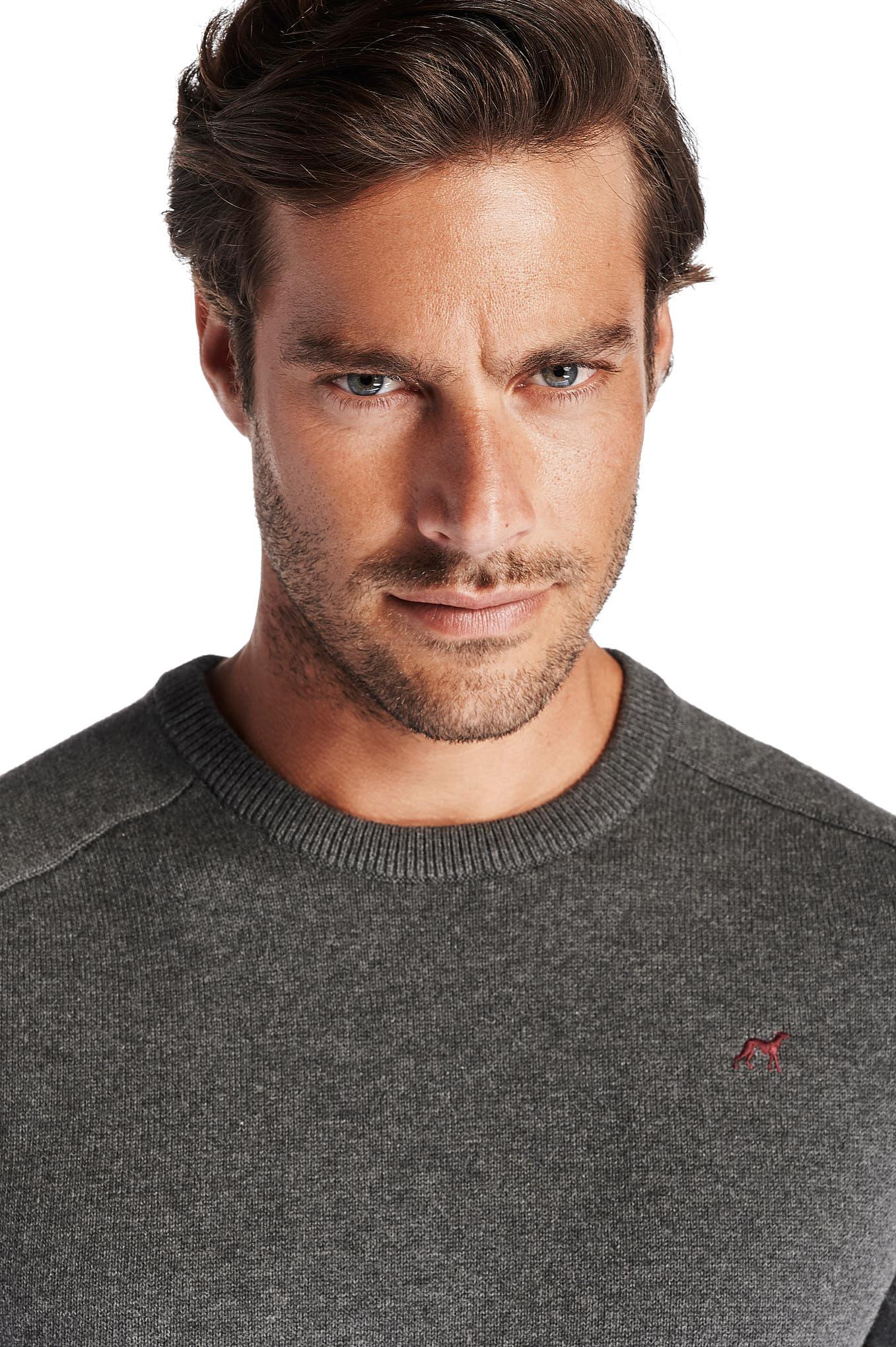 Sweater Medium Grey Casual Man
