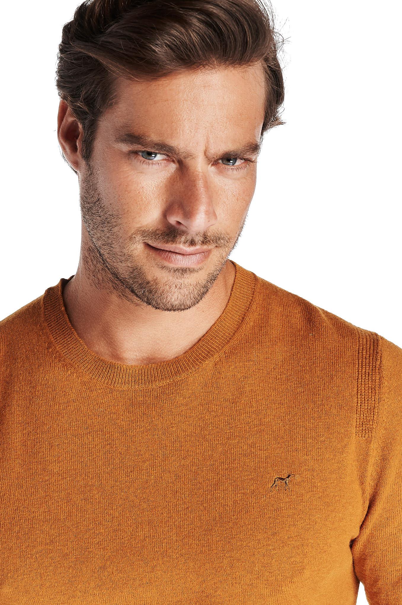 Sweater Yellow Casual Man