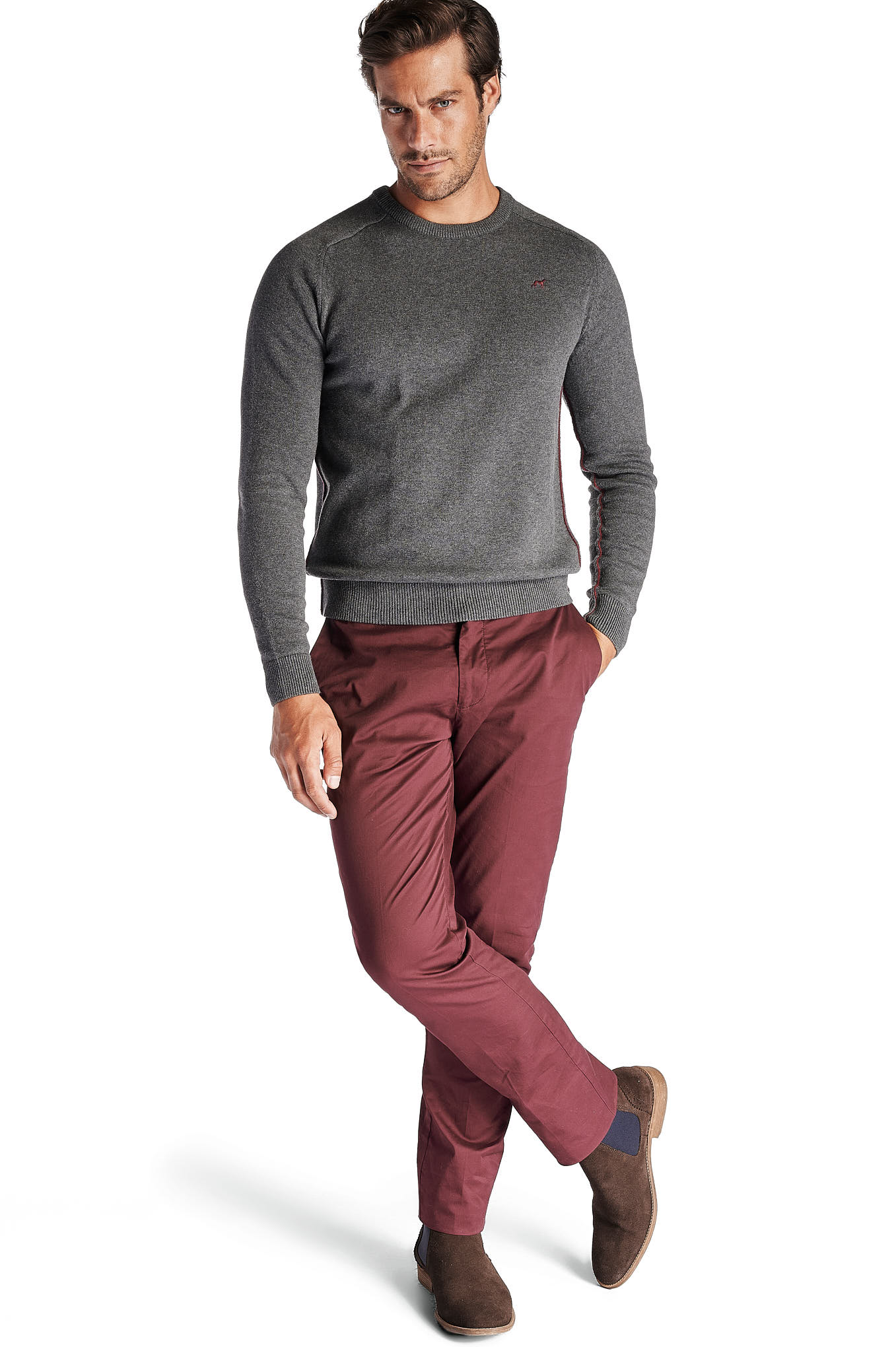 Chino Trousers Bordeaux Sport Man