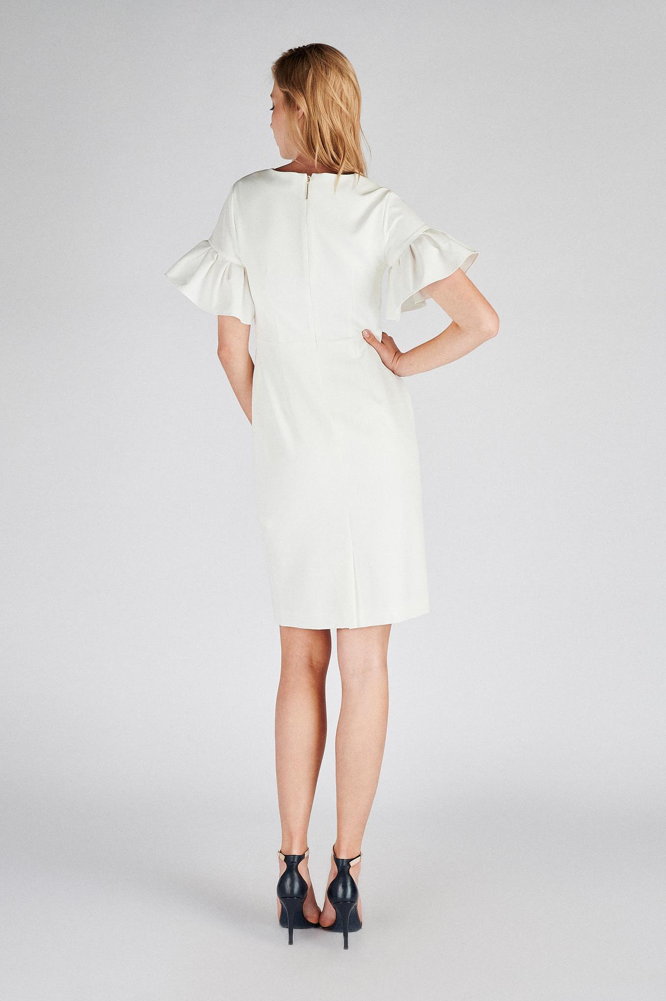 Dress Ecru Classic Woman