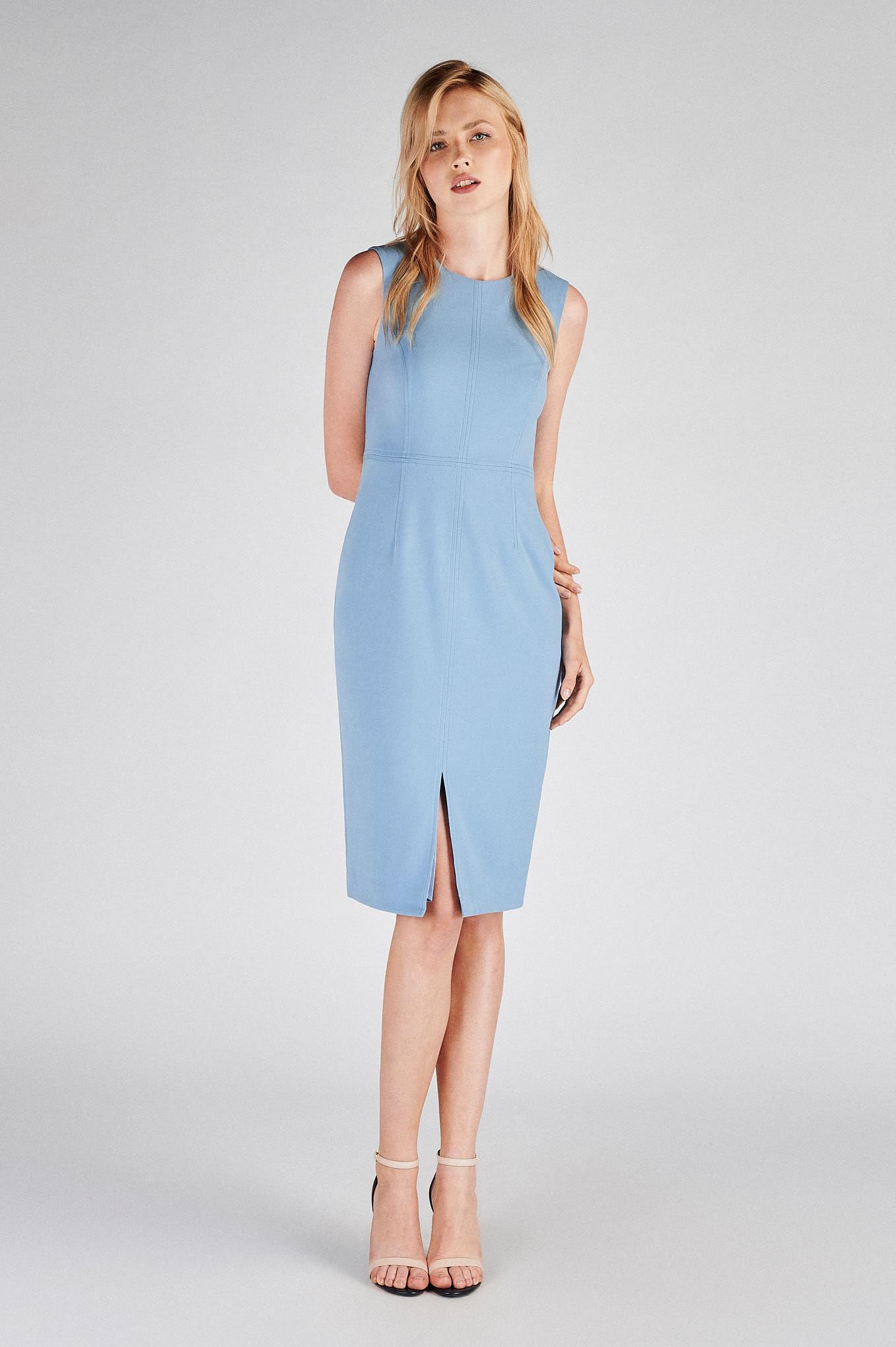 Dress Blue Classic Woman