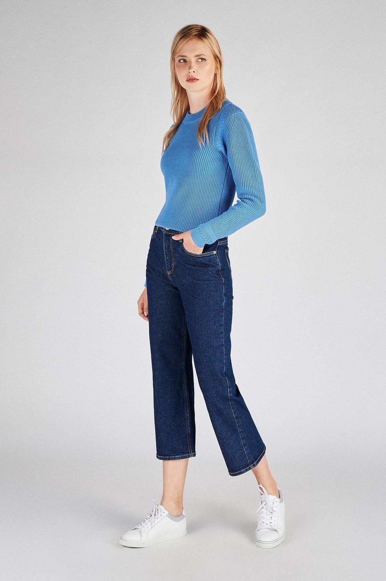 Calças Ganga Azul Escuro Casual Mulher