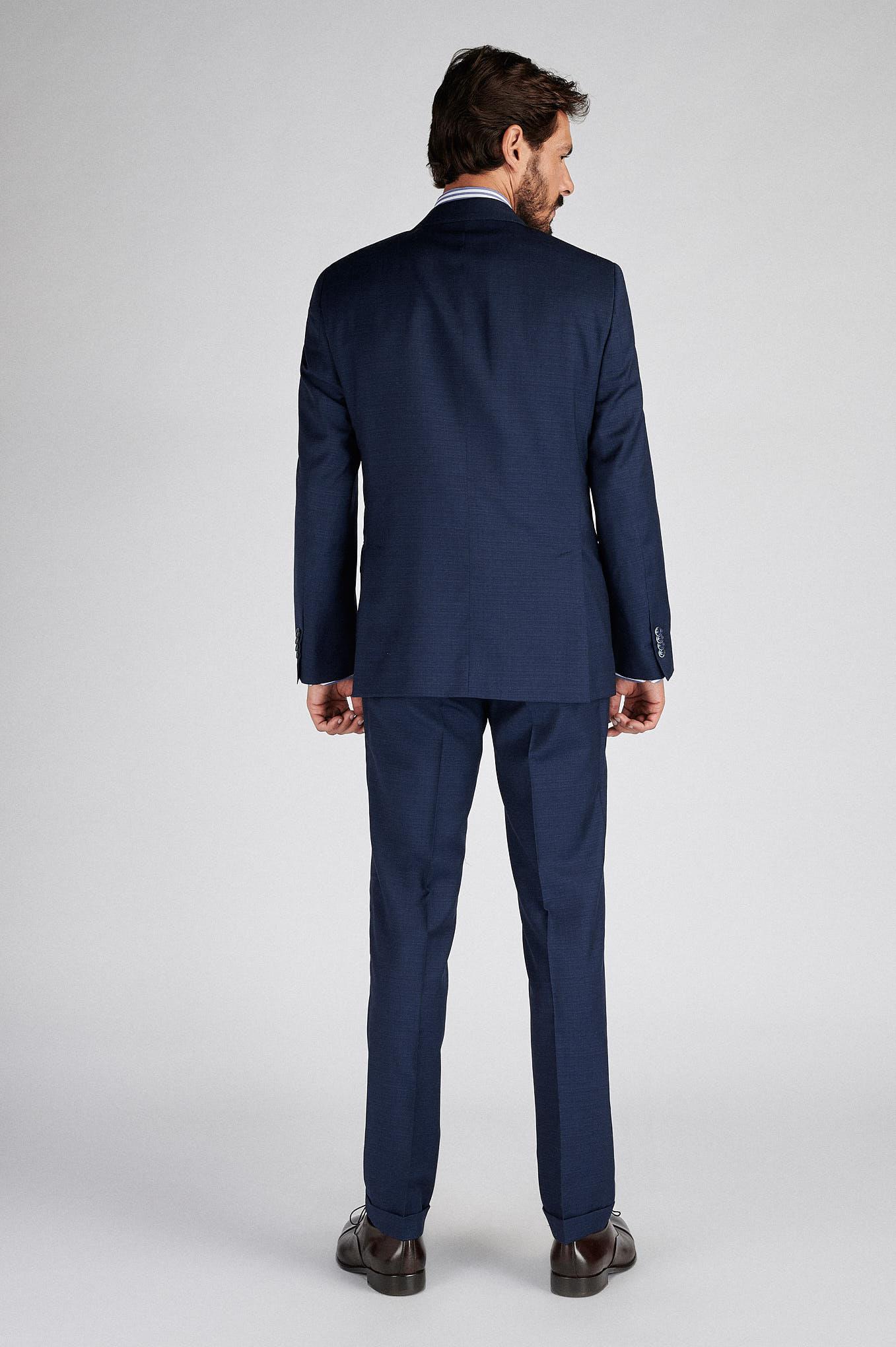 Suit with Vest Blue Classic Man