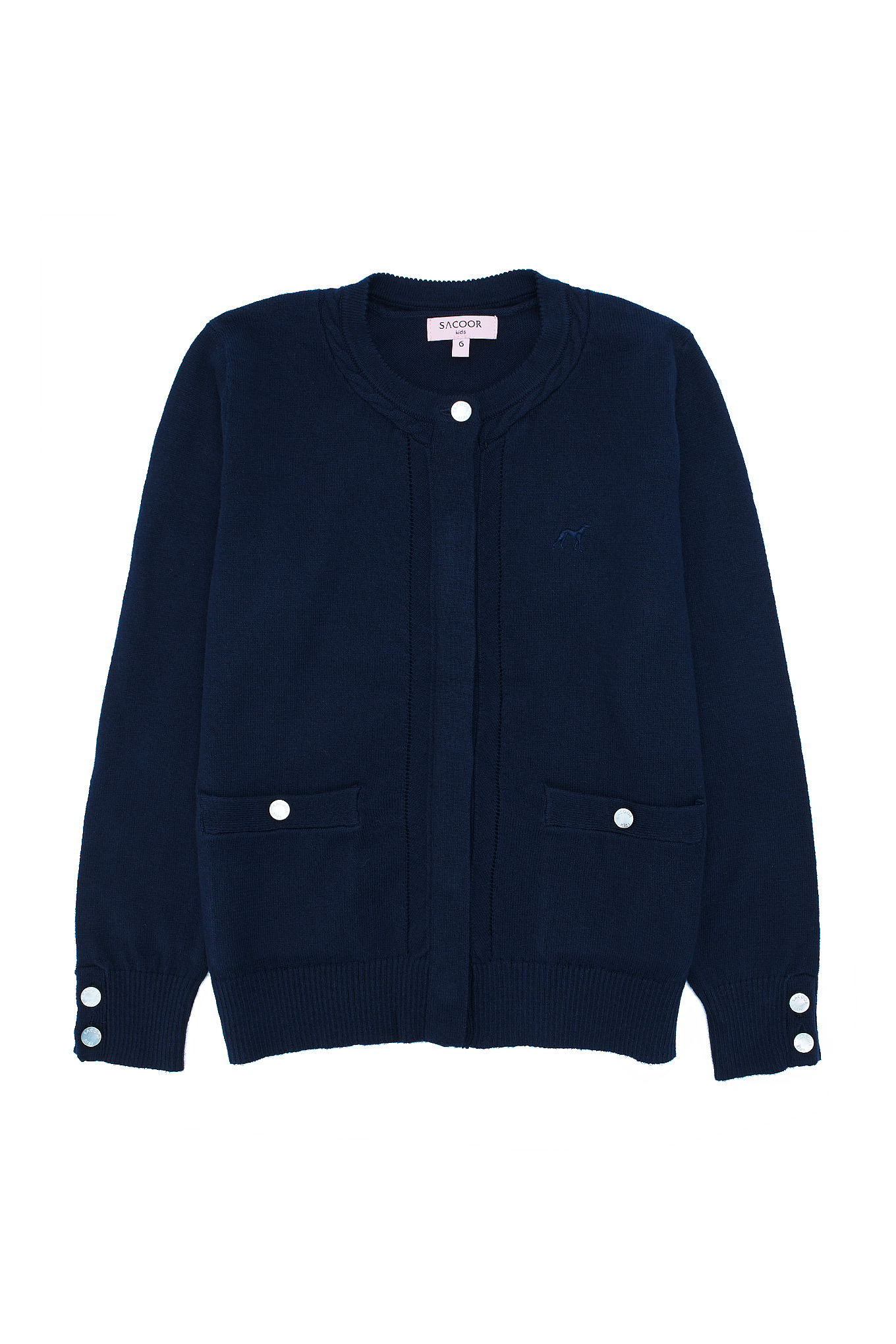 Cardigan Dark Blue Casual Girl