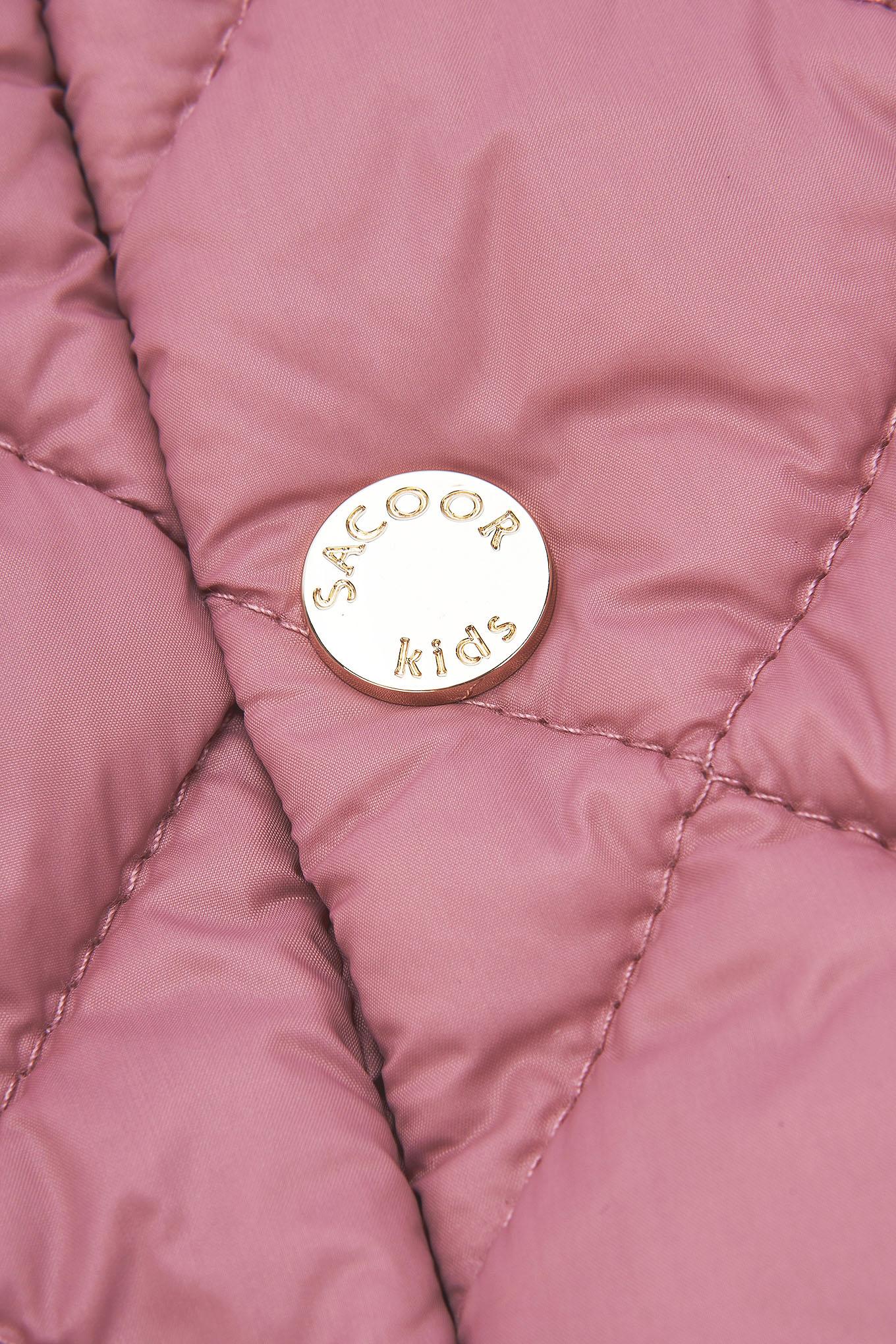 Blusão Rosa Casual Rapariga