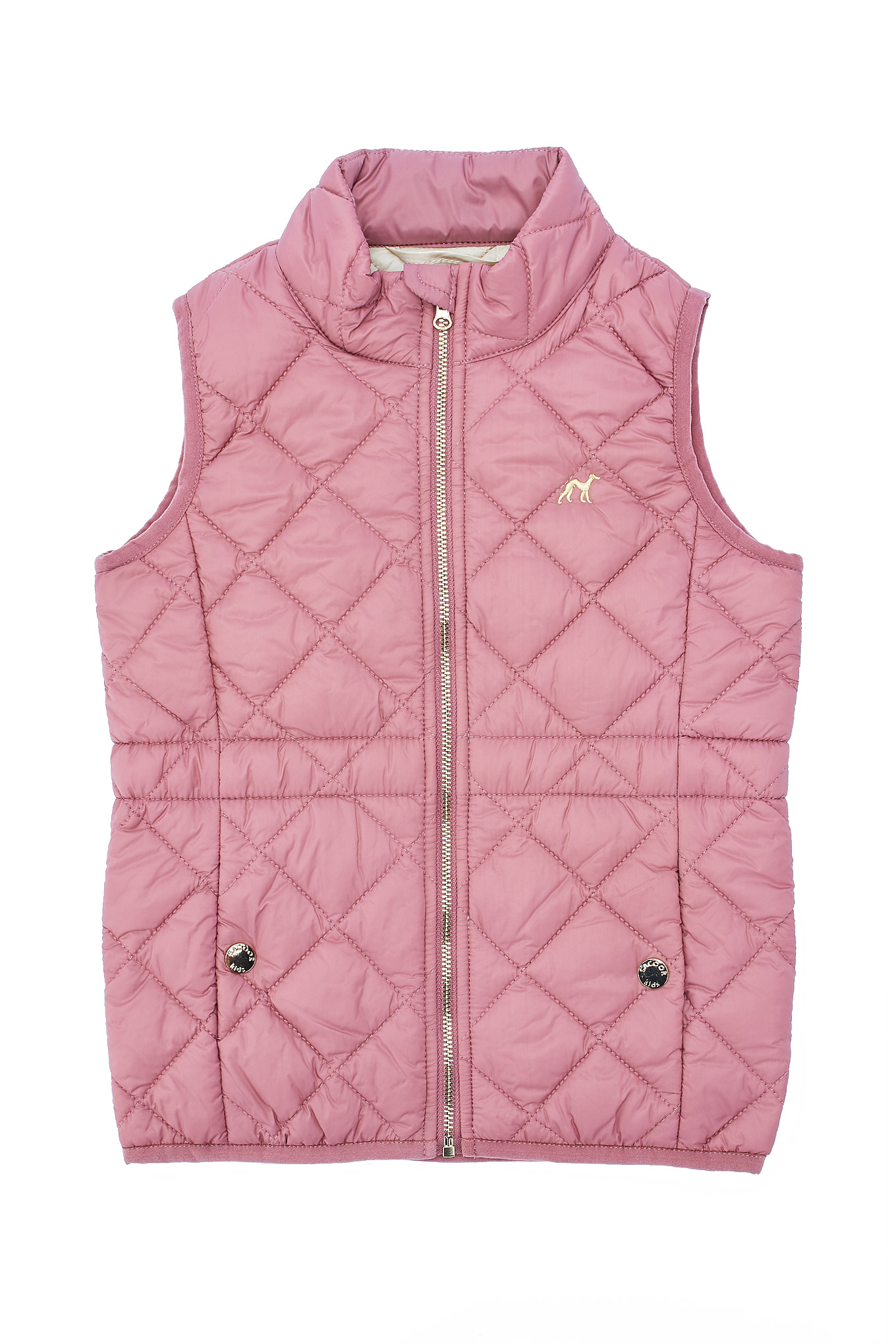 Waist Coat Pink Casual Girl
