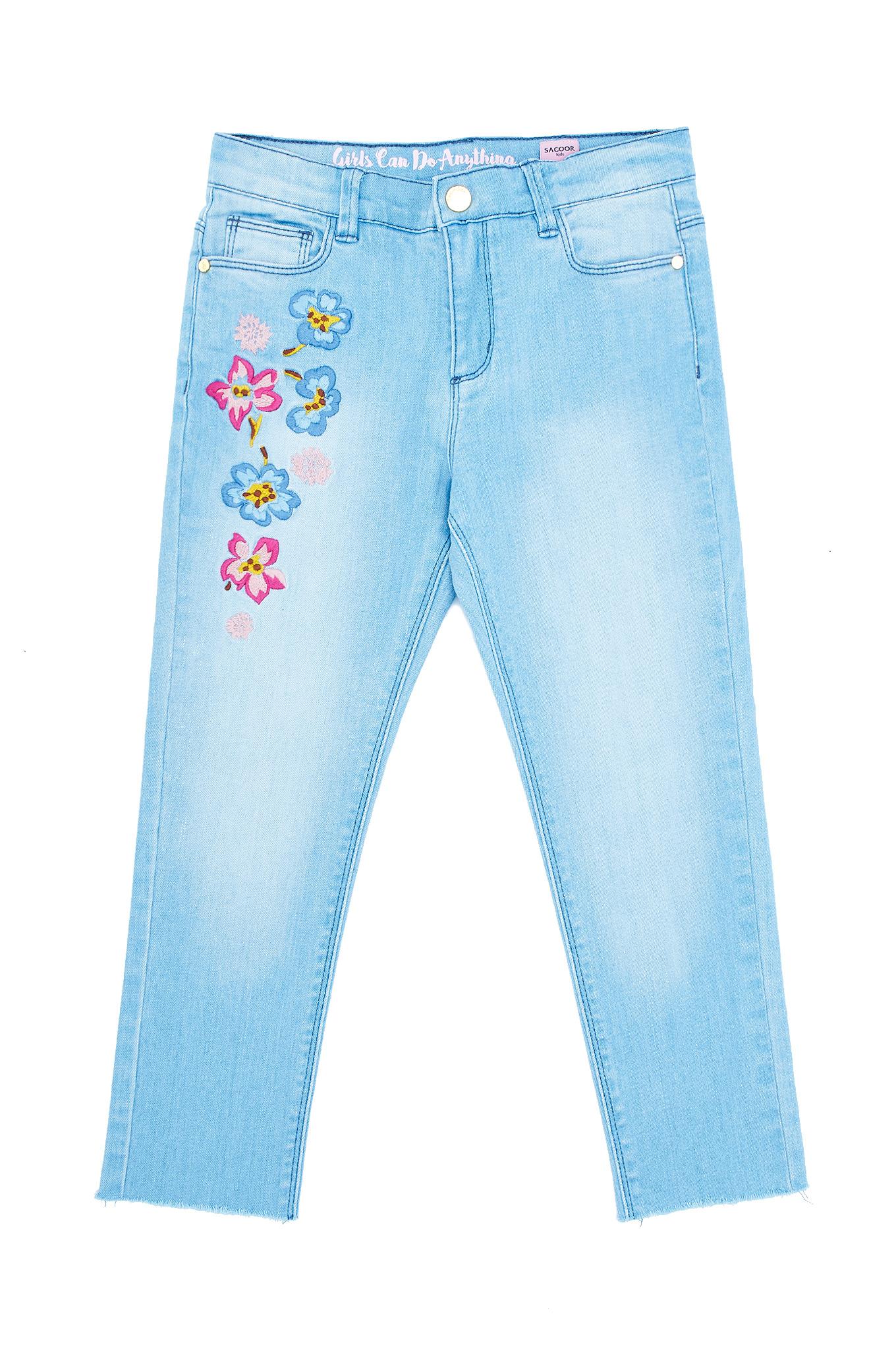 Calças Ganga Azul Claro Sport Rapariga