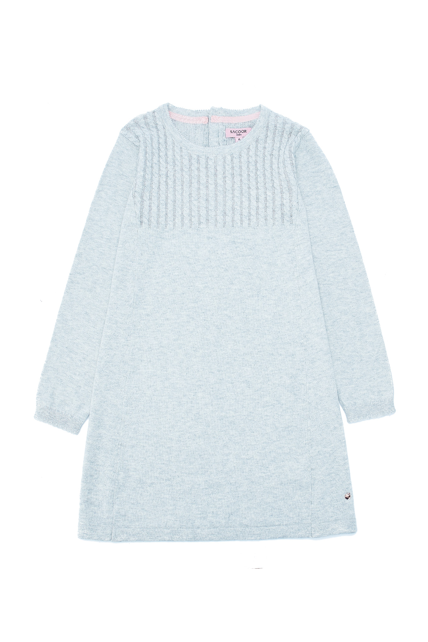 Knitwear Dress Light Grey Casual Girl