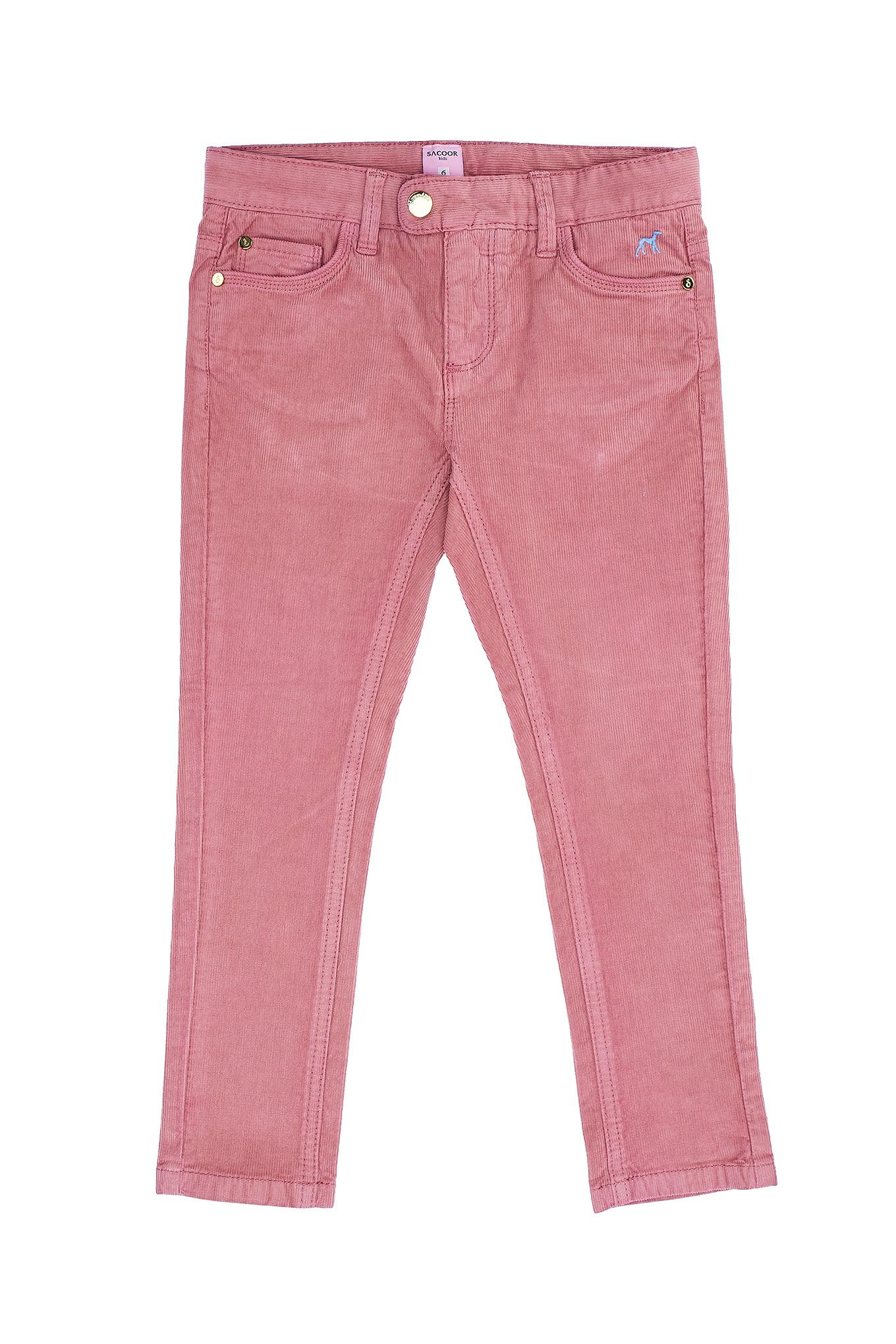 Calças 5 Bolsos Rosa Escuro Casual Rapariga
