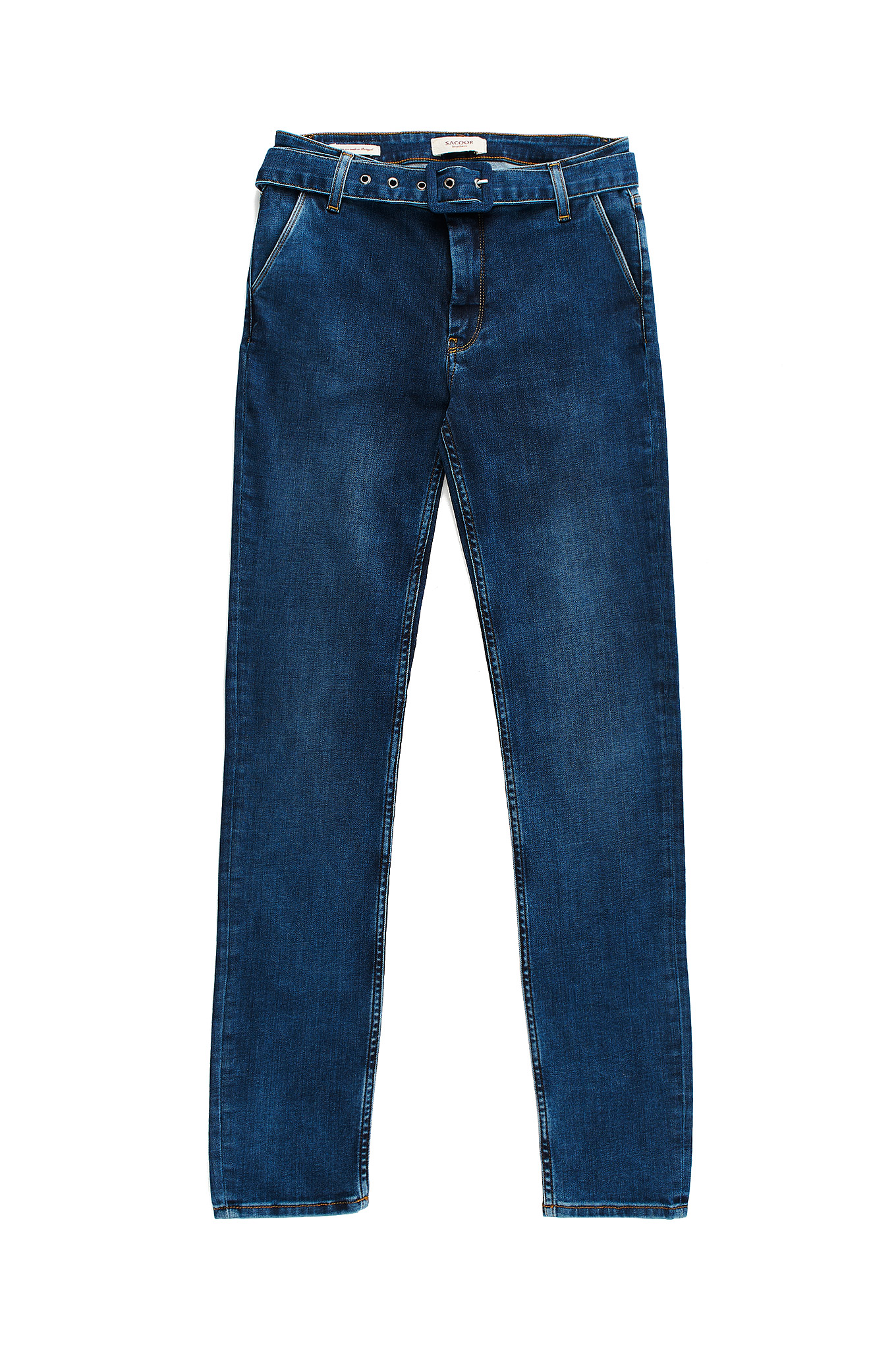 Jeans Medium Blue Casual Woman