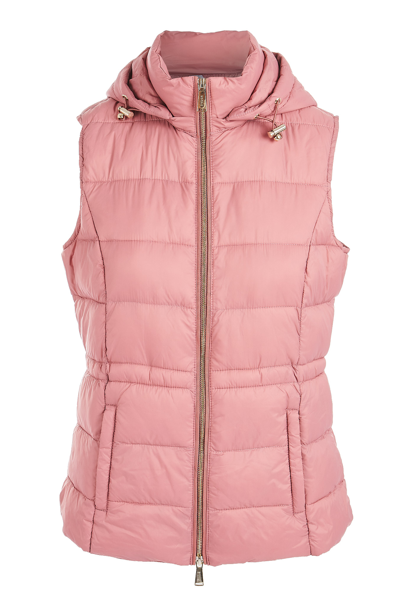 Waist Coat Pink Casual Woman