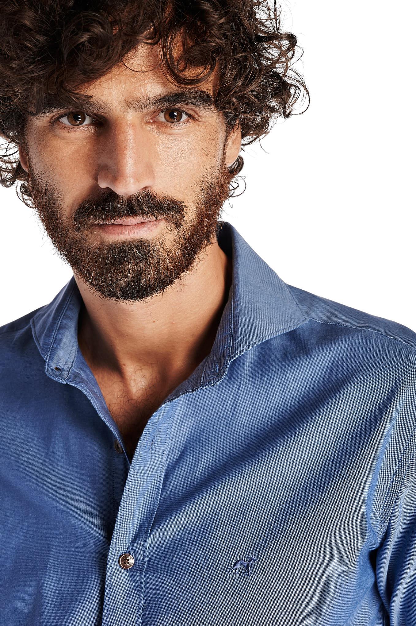 Shirt Medium Blue Casual Man