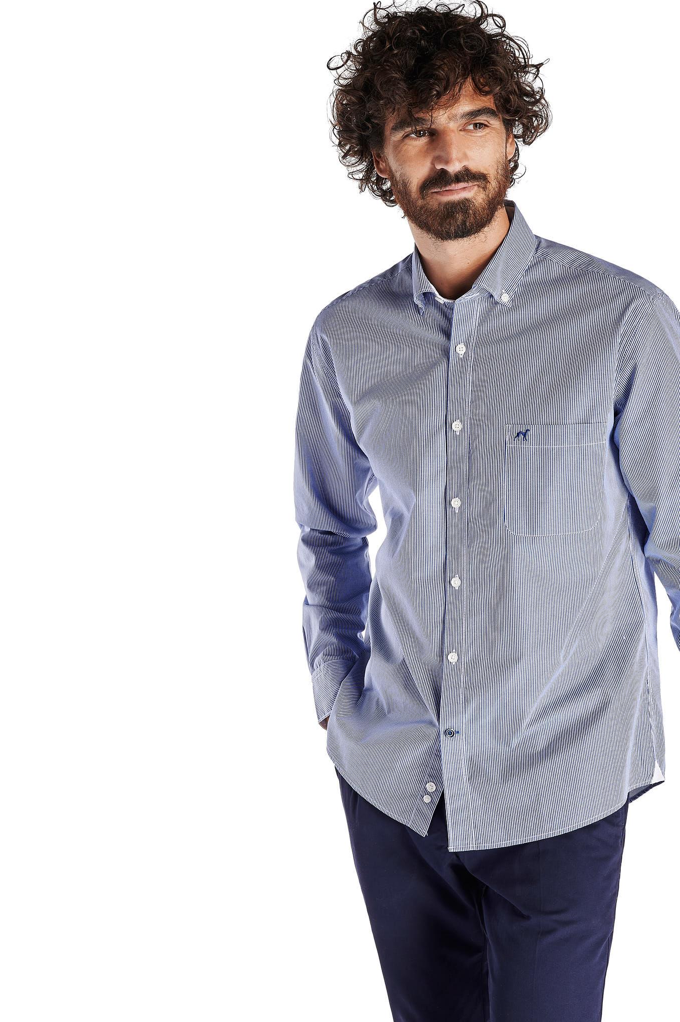 Shirt Royal Blue Sport Man