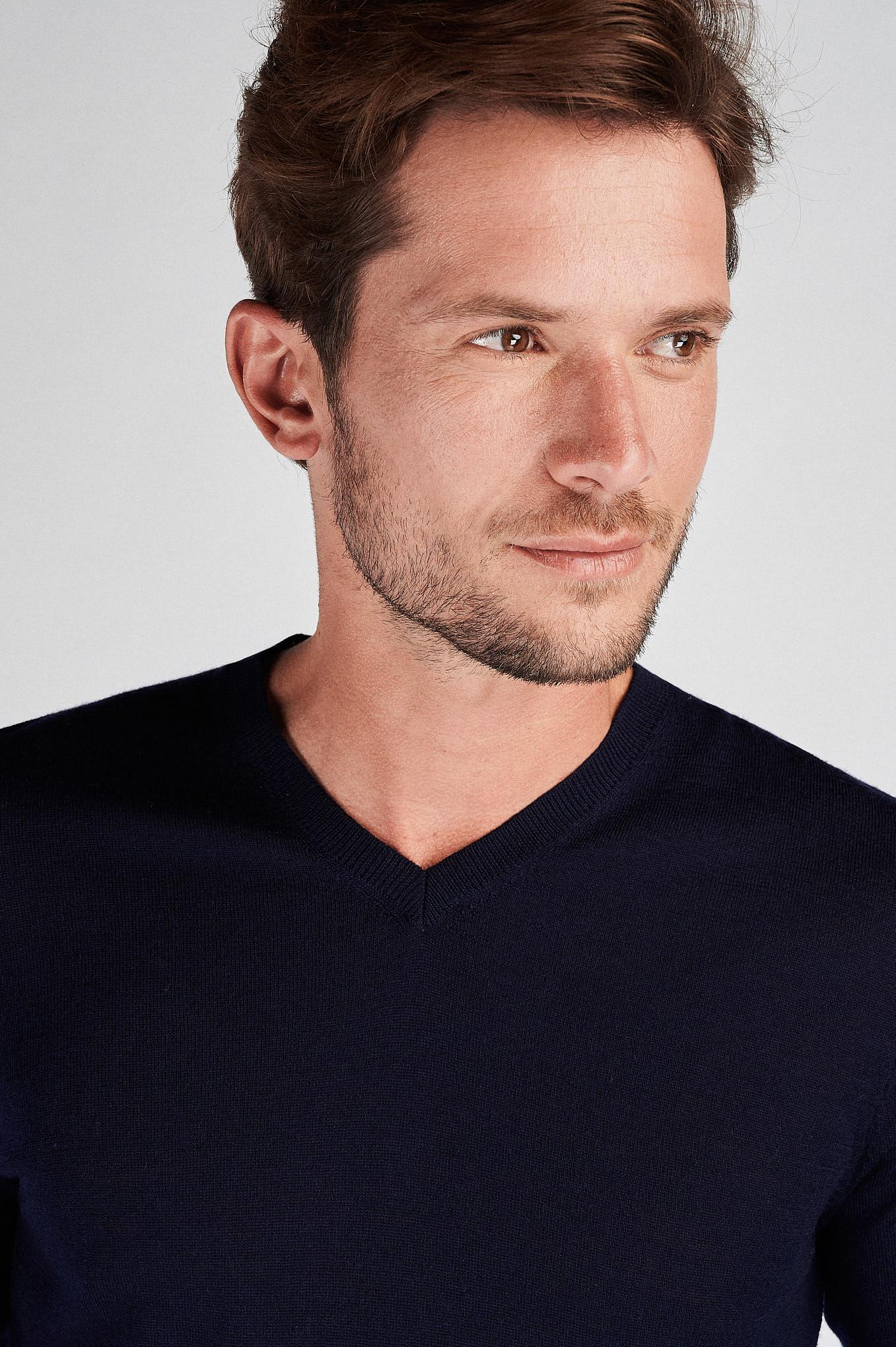 Sweater Dark Blue Casual Man
