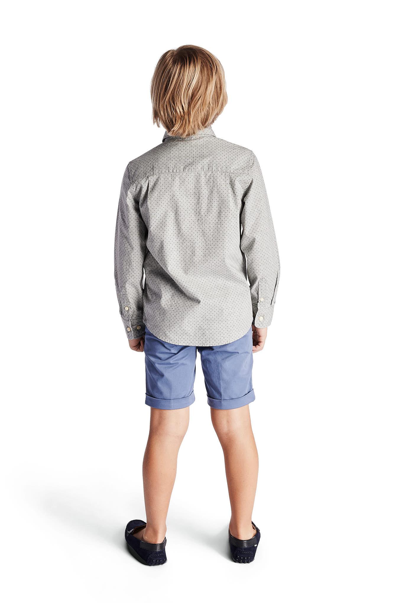 Shirt Light Grey Casual Boy