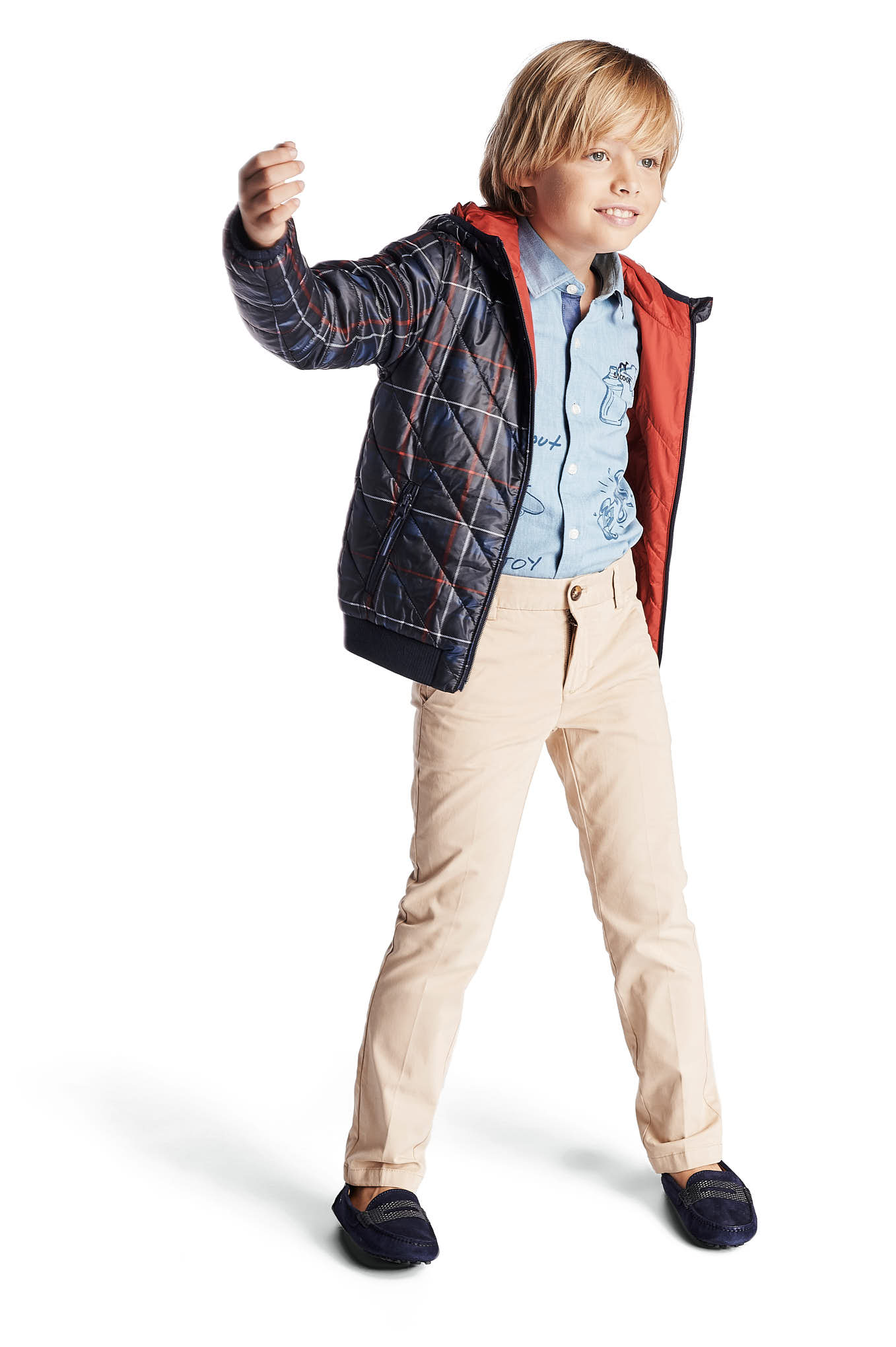 Jacket Red Casual Boy