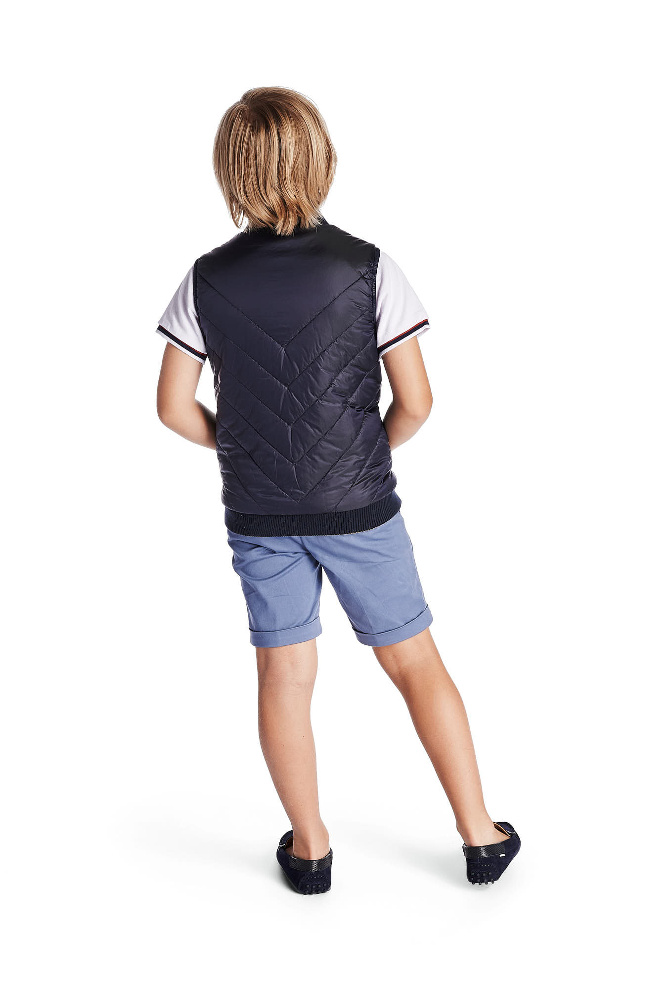 Waist Coat Dark Blue Casual Boy