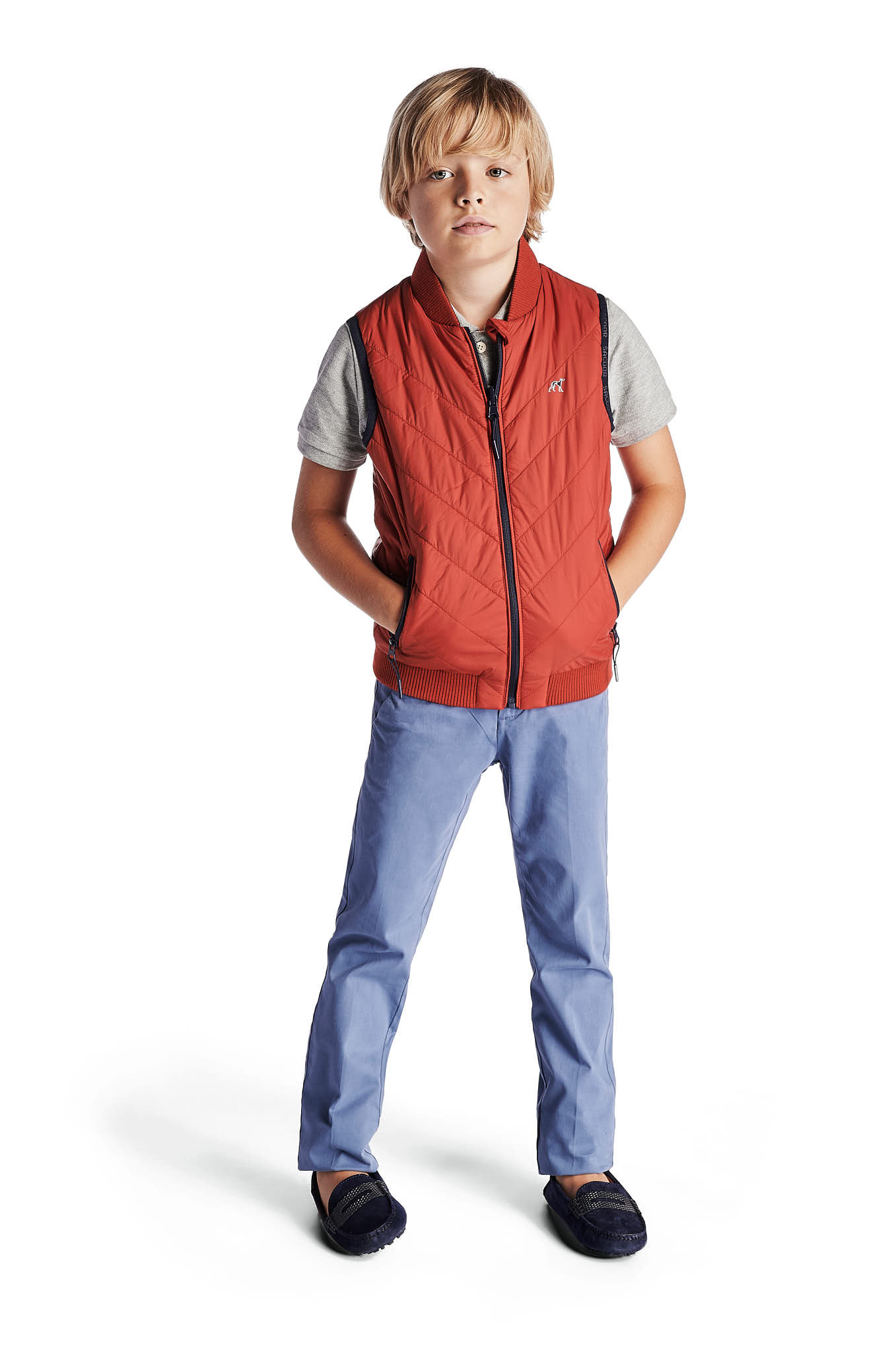 Waist Coat Red Casual Boy