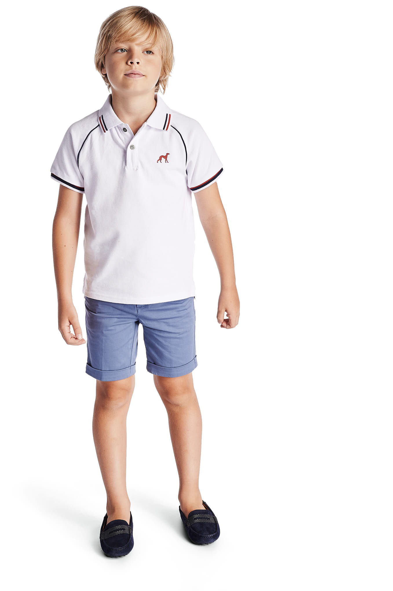 Polo Piquet White Sport Boy