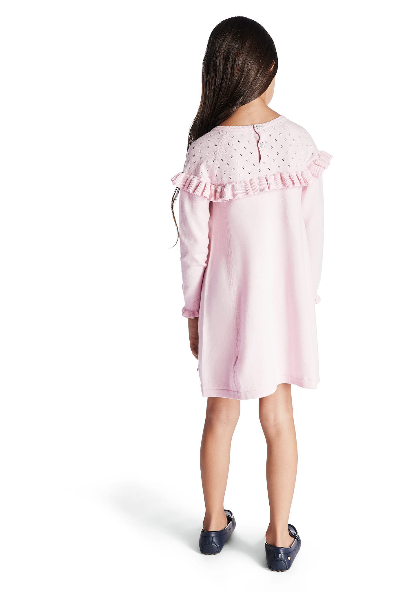 Knitwear Dress Light Pink Casual Girl