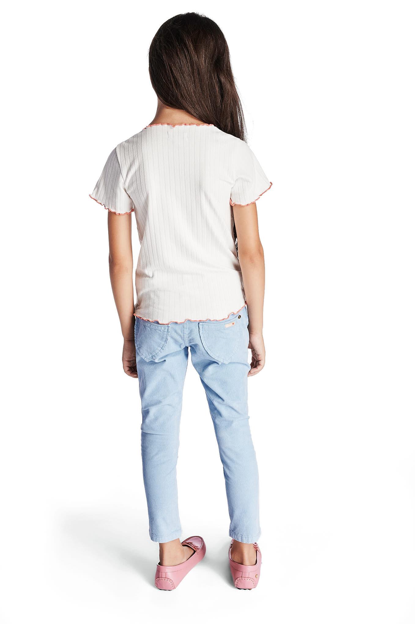 Calças 5 Bolsos Azul Claro Casual Rapariga
