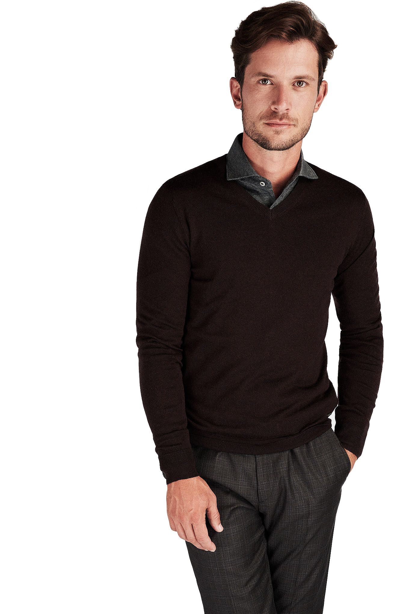 Sweater Chocolate Casual Man