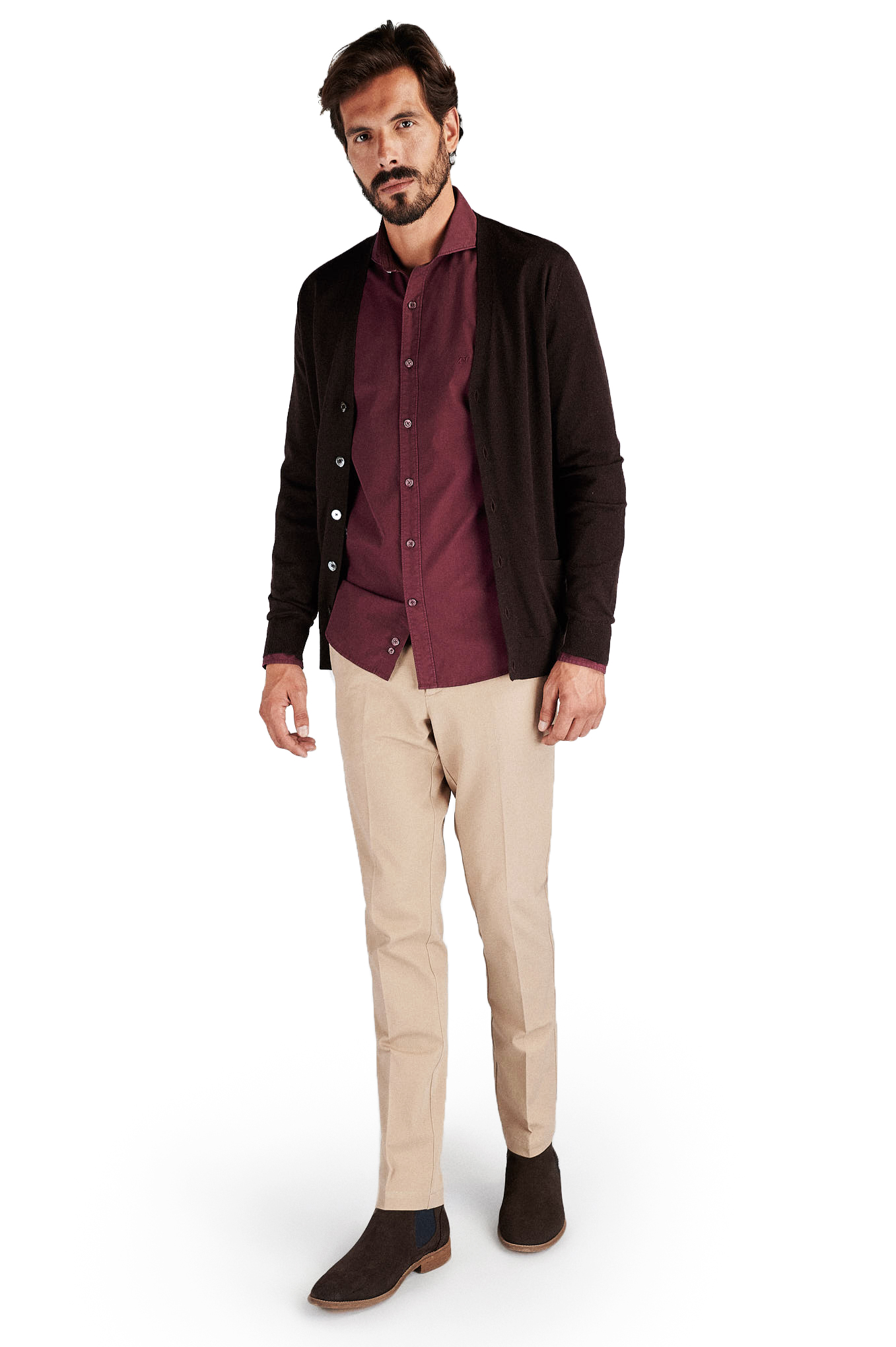 Cardigan Chocolate Casual Man