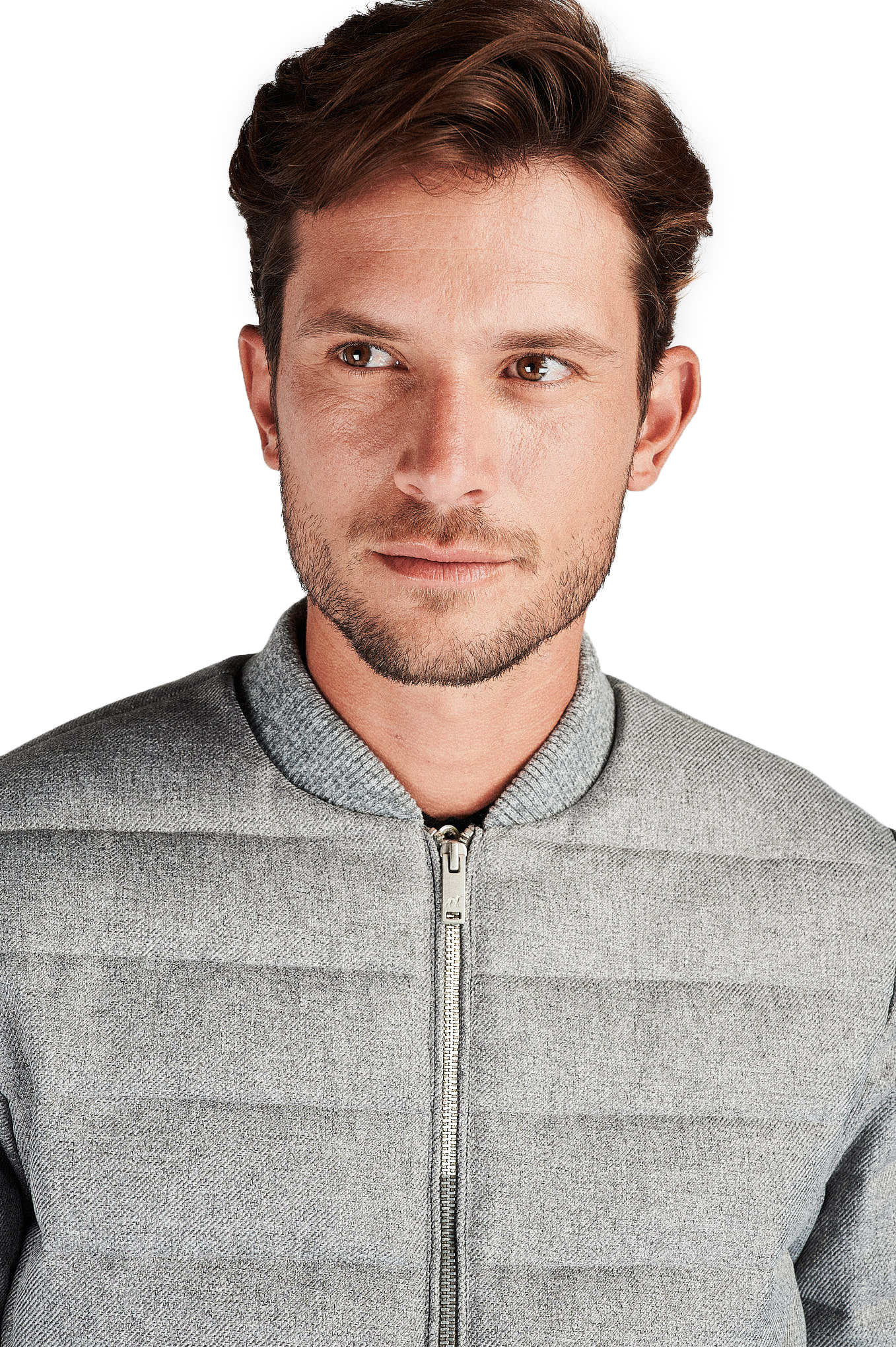 Jacket Mix Grey Casual Man