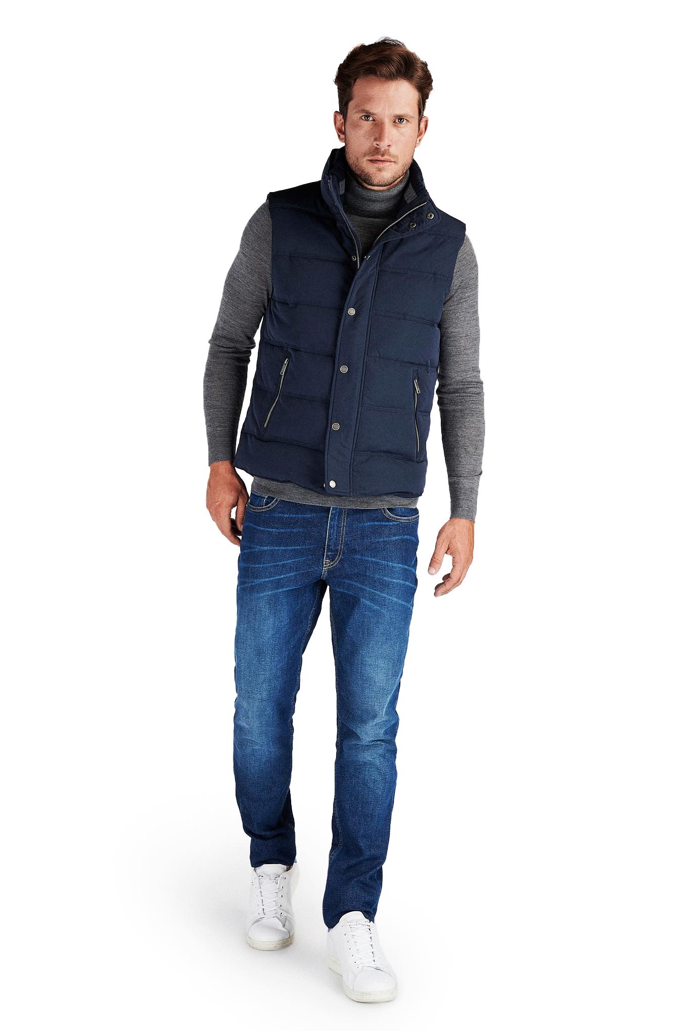 Waist Coat Dark Blue Casual Man