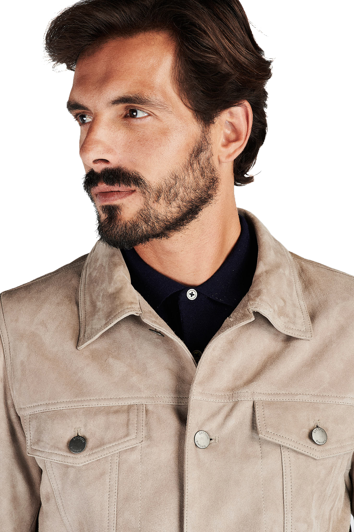 Leather Jacket Sand Casual Man