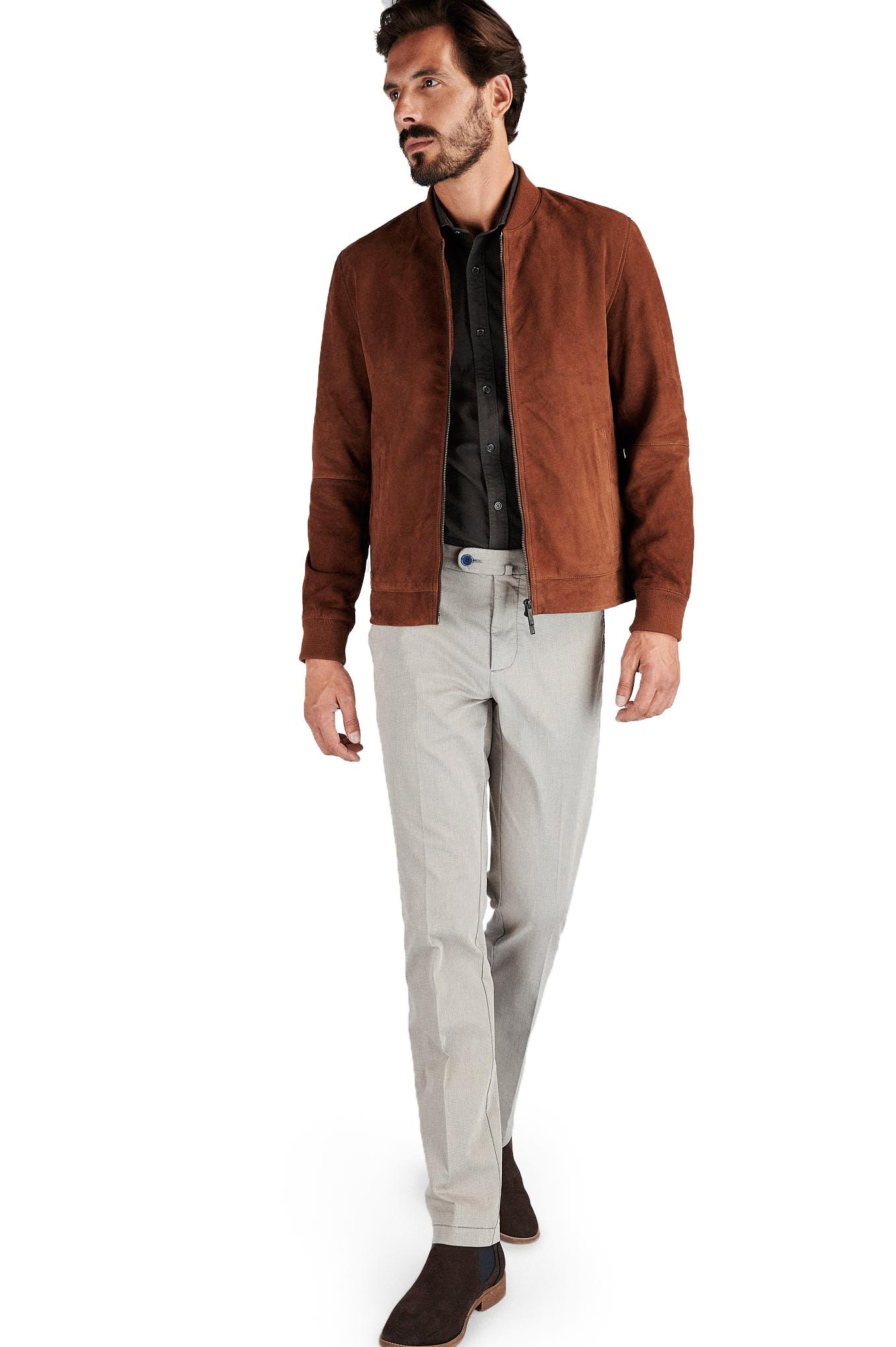 Leather Jacket Caramel Casual Man