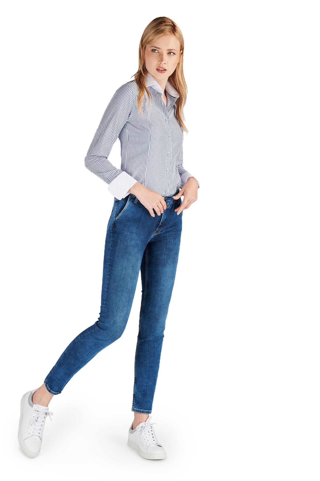 Shirt Blue Classic Woman