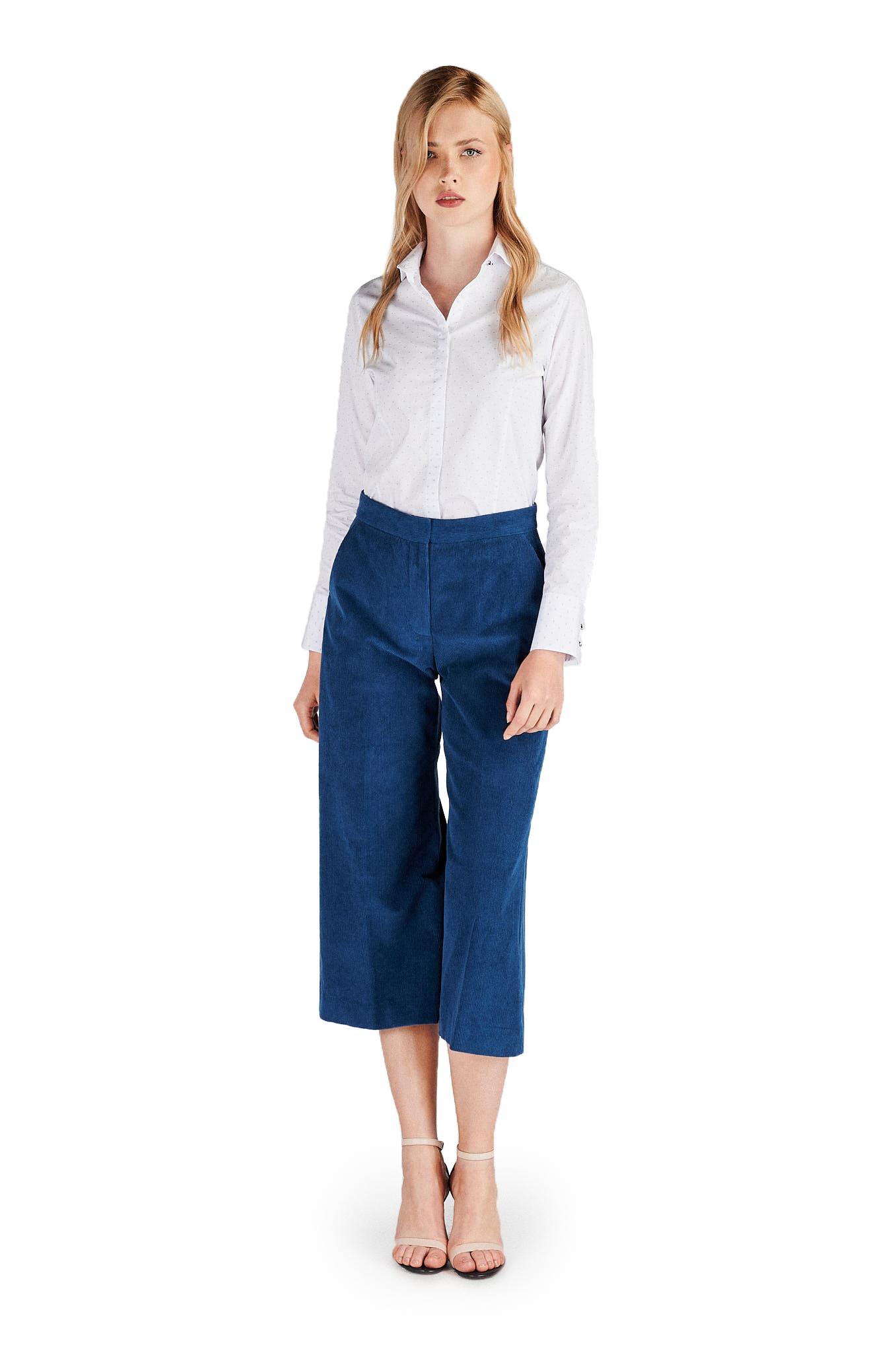 Shirt Light Blue Classic Woman