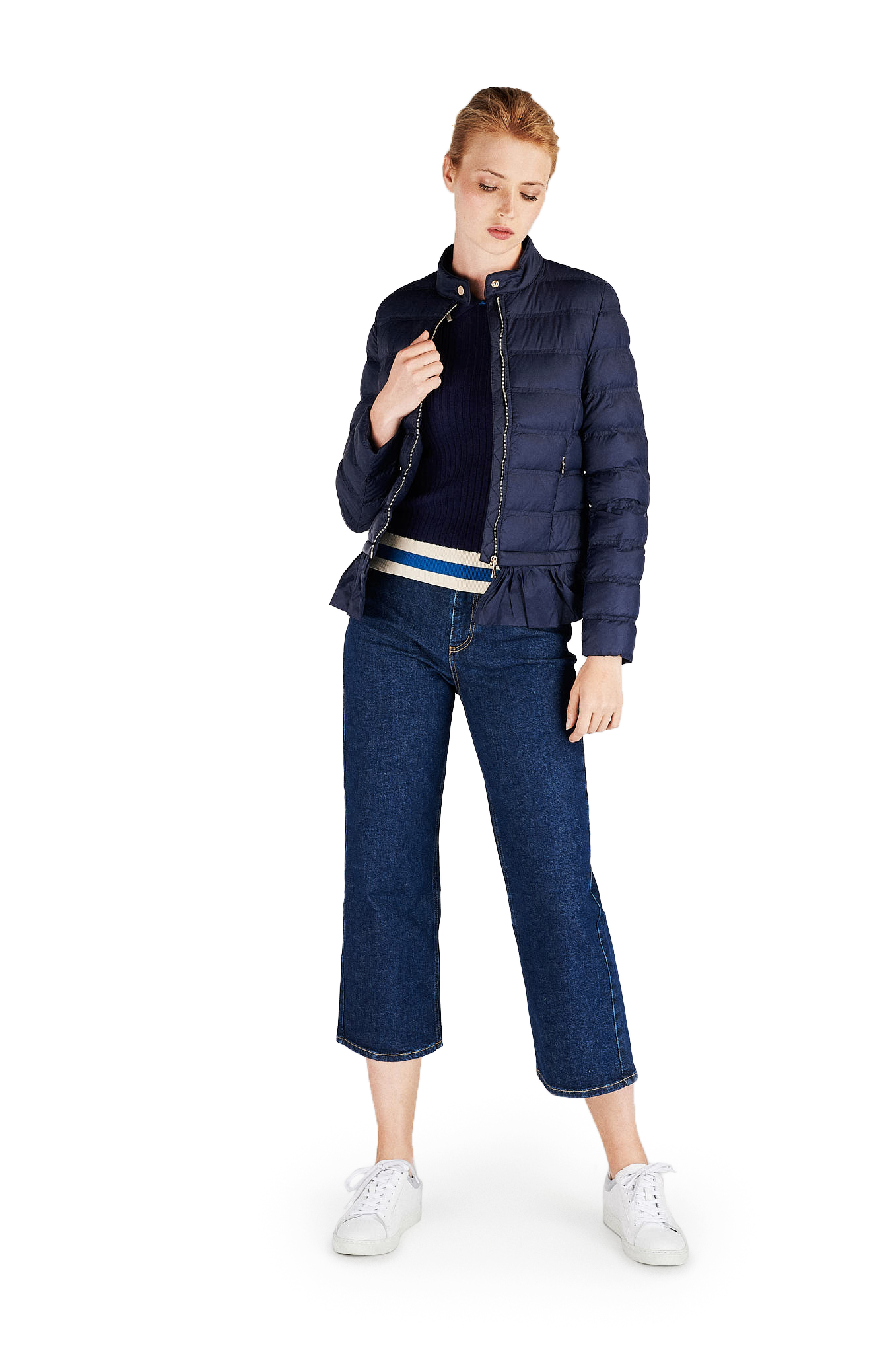 Jacket Dark Blue Casual Woman
