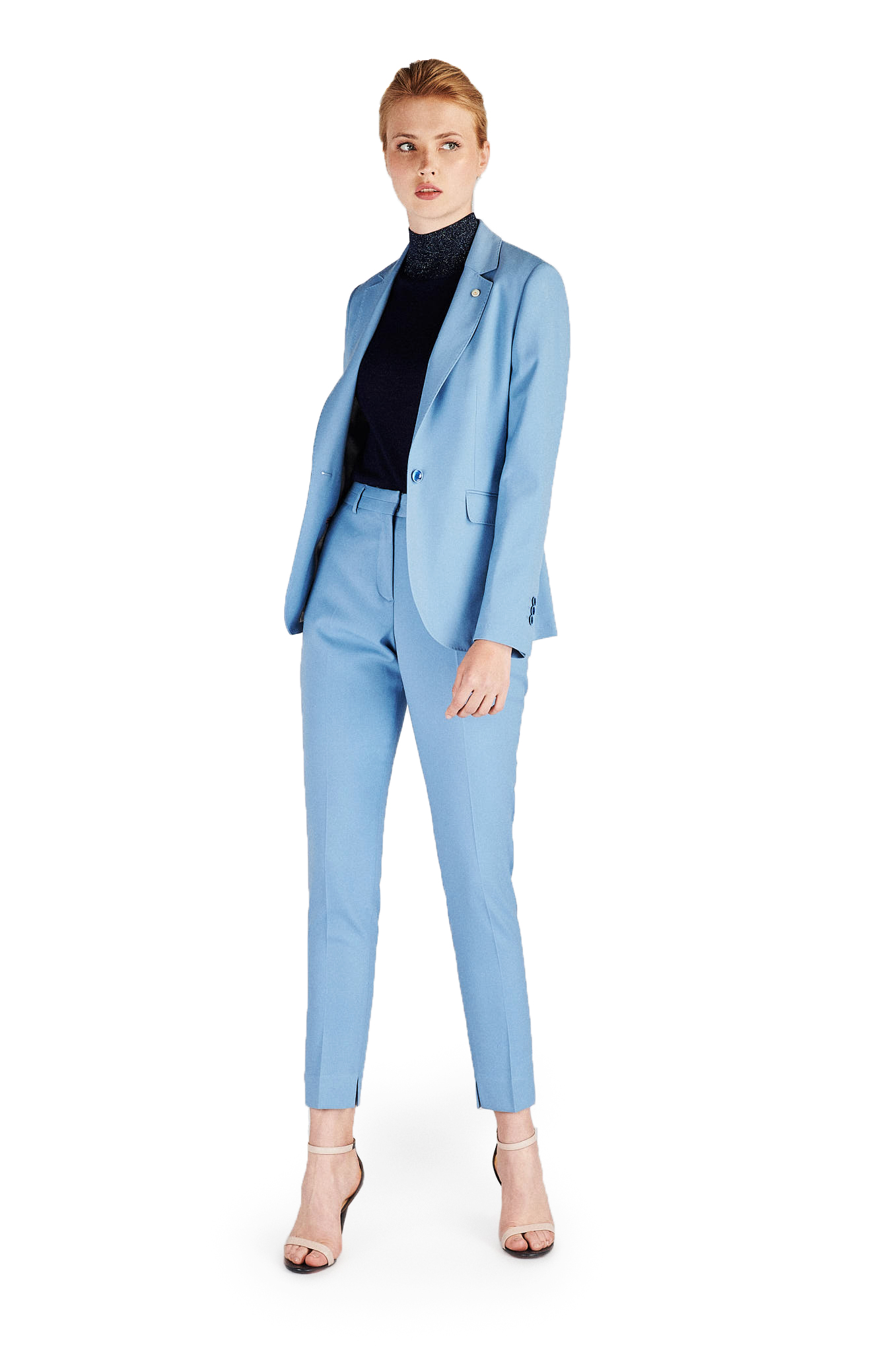 Suit Light Blue Classic Woman
