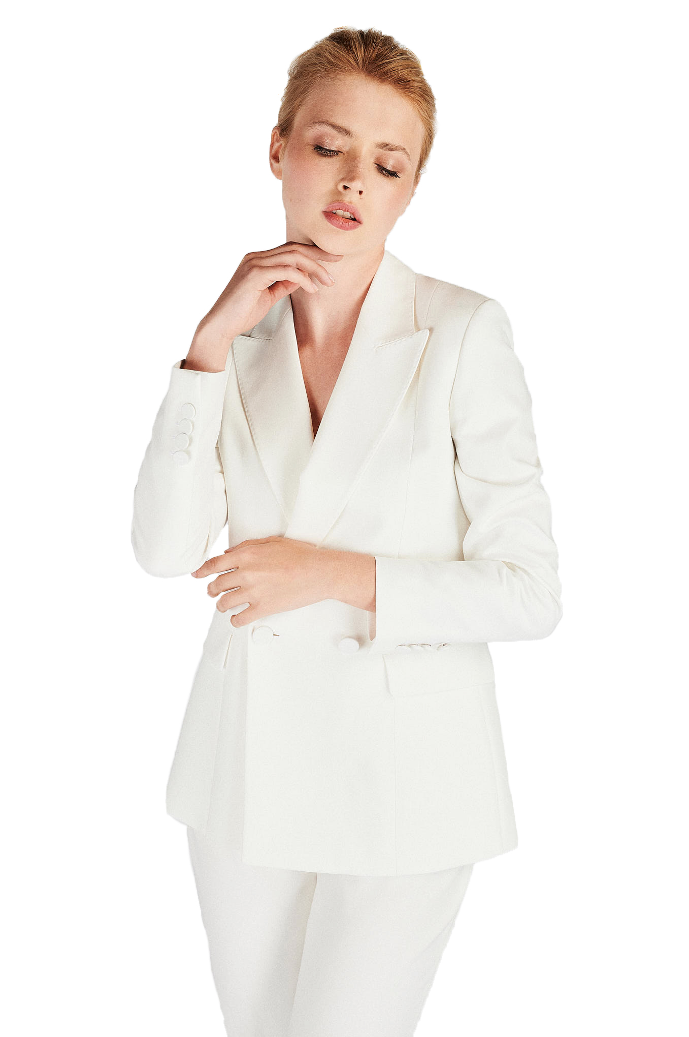 Suit White Classic Woman