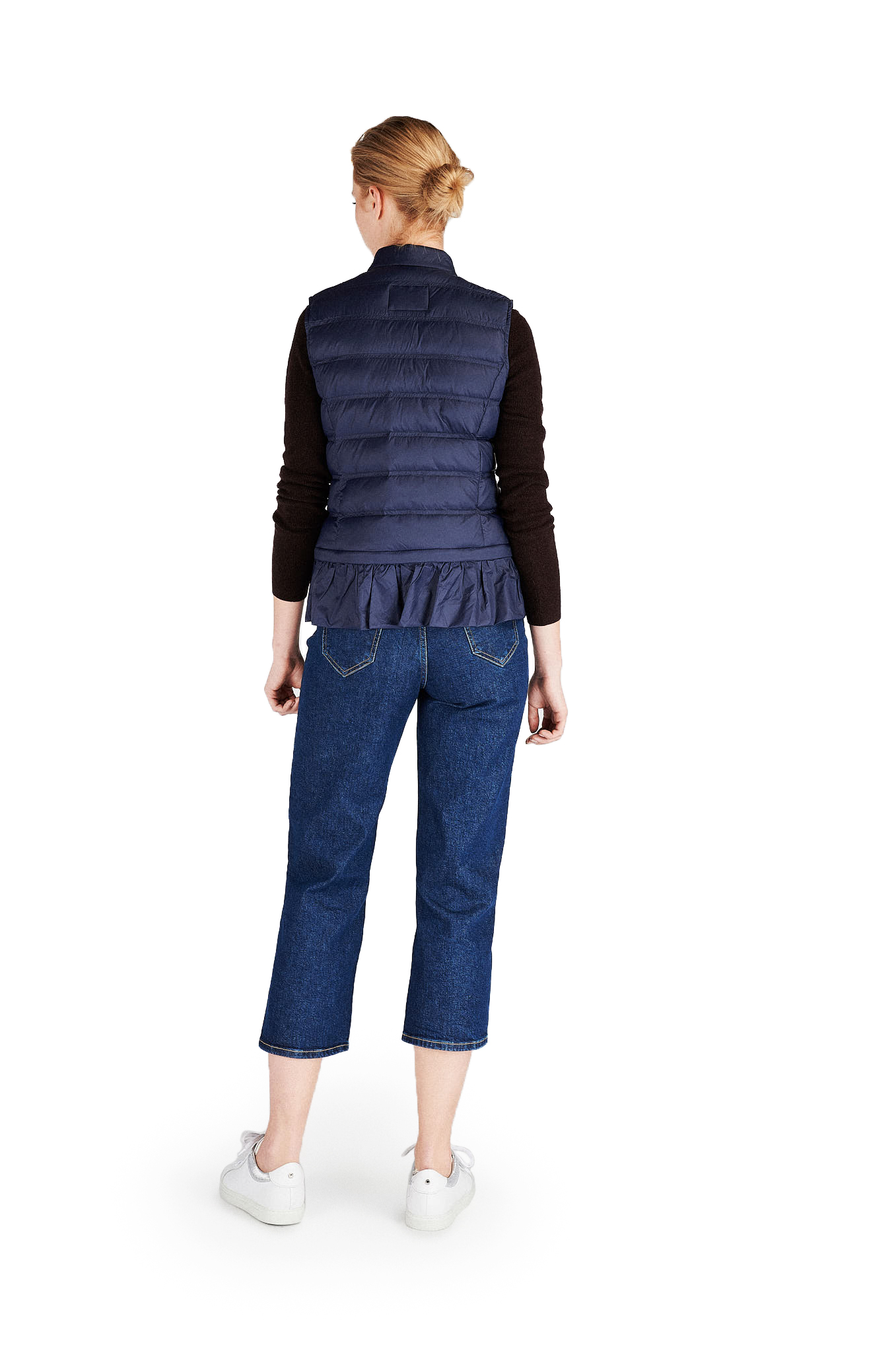 Waist Coat Dark Blue Casual Woman