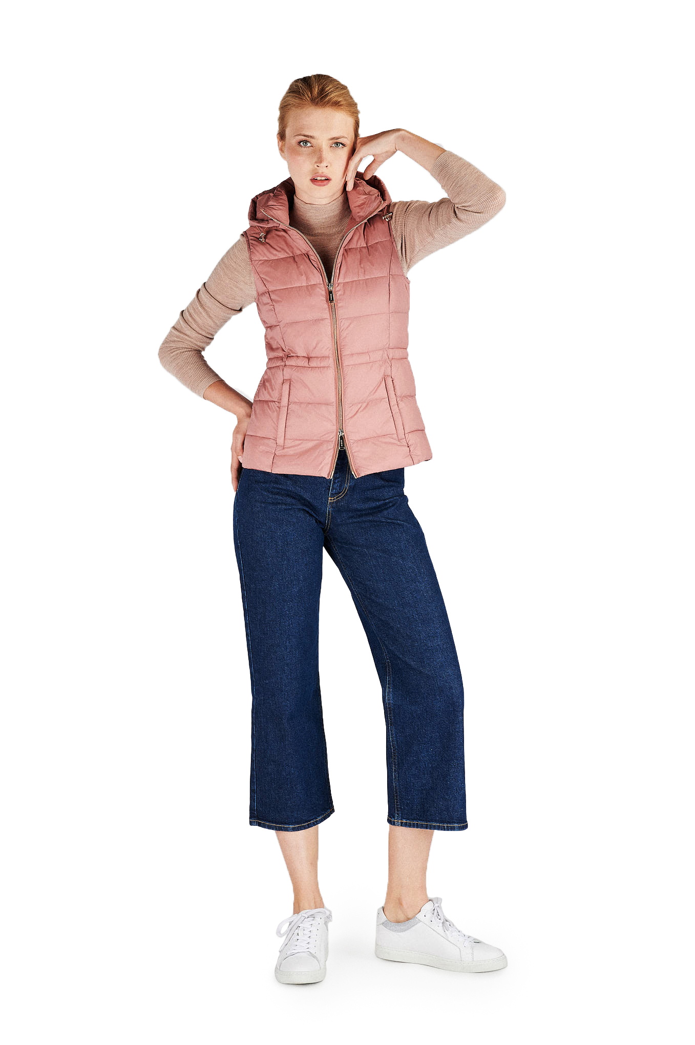 Colete Rosa Casual Mulher
