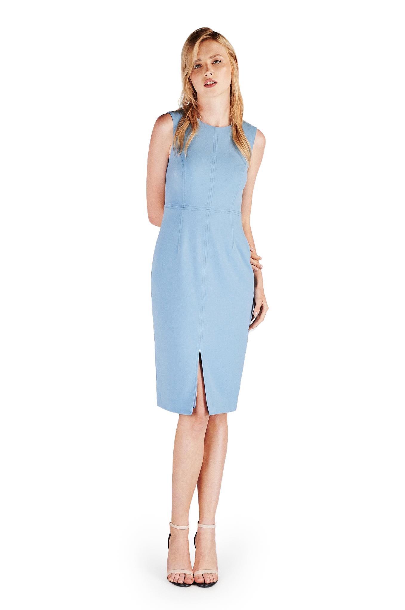 Vestido Azul Classic Mulher