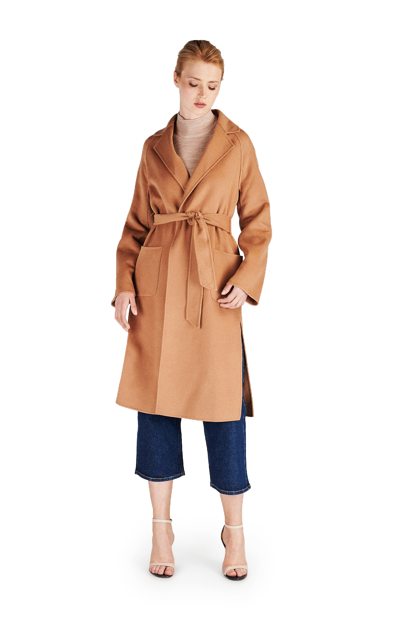 Overcoat Camel Casual Woman