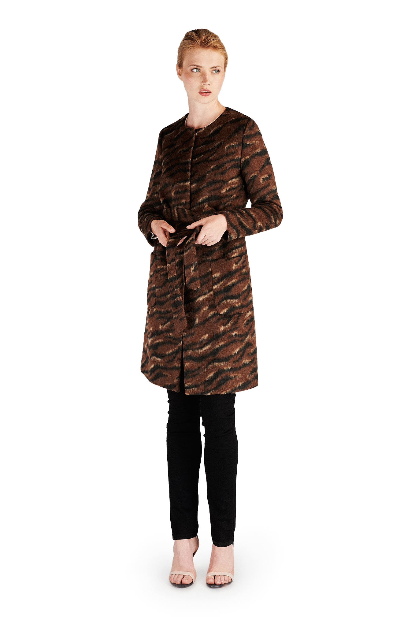 Overcoat Chocolate Casual Woman