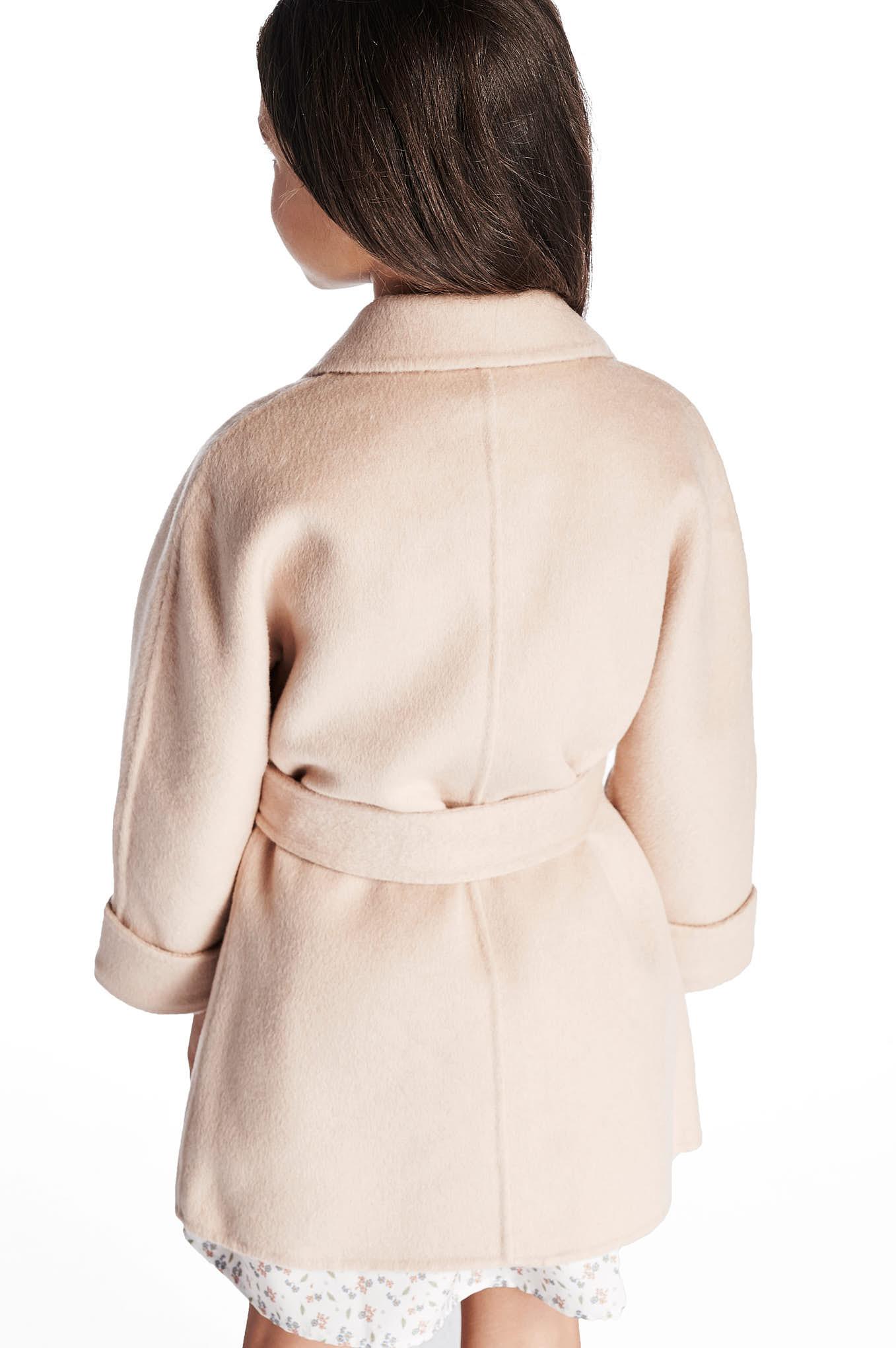 Overcoat Beige Casual Girl