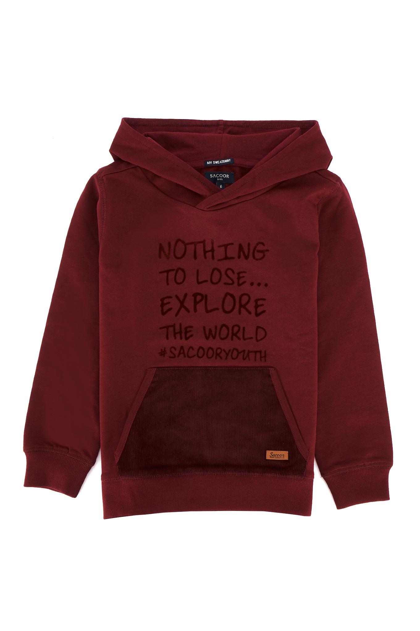Sweatshirt Bordeaux Sport Rapaz