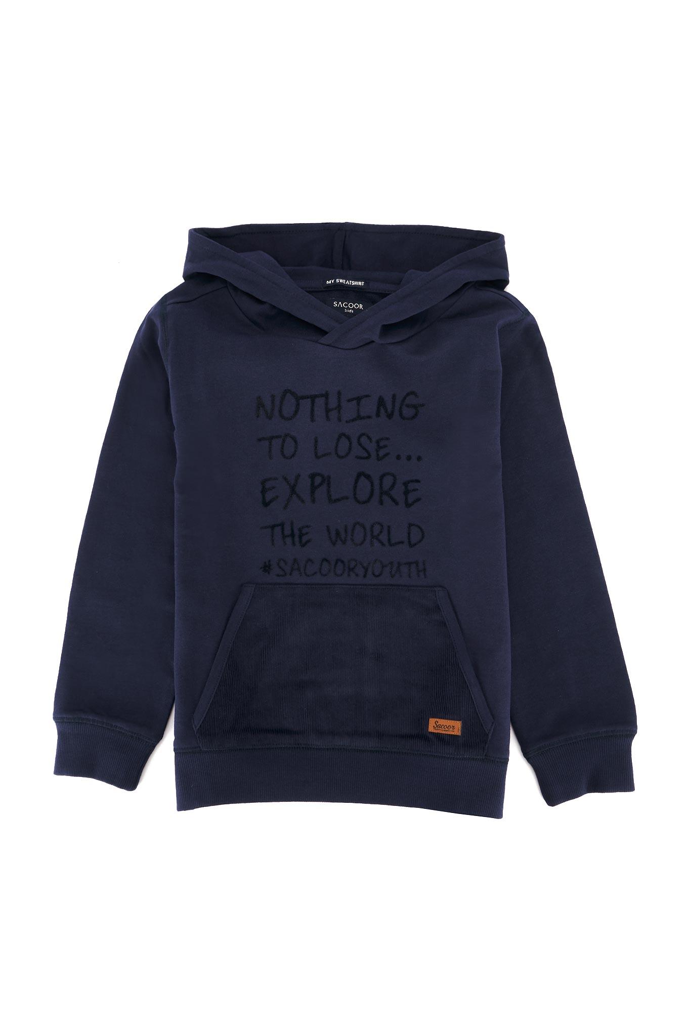 Sweatshirt Azul Escuro Sport Rapaz