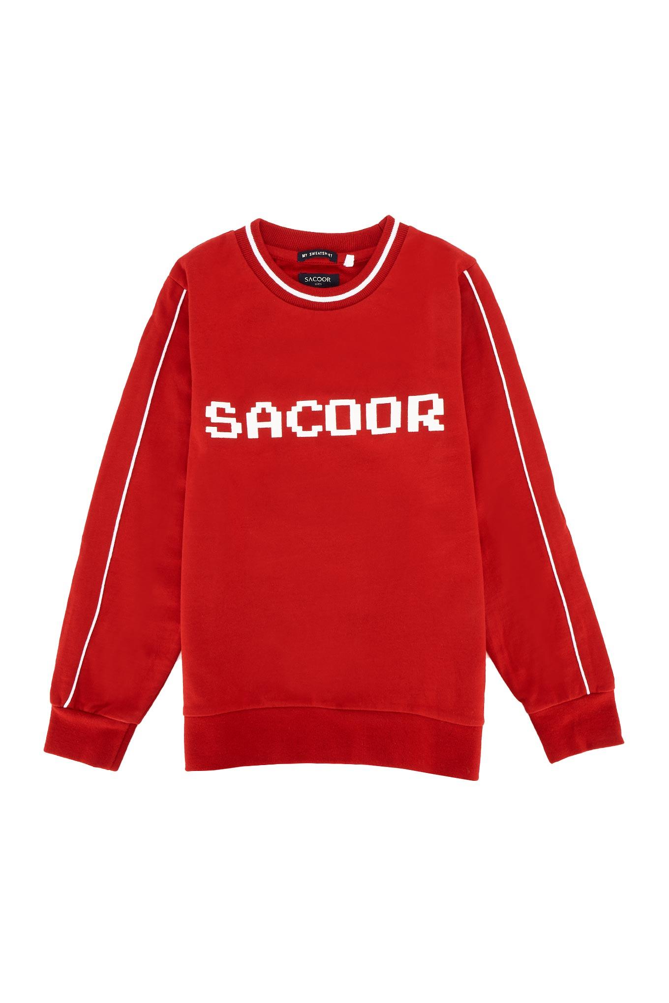 Sweatshirt Vermelho Sport Rapaz